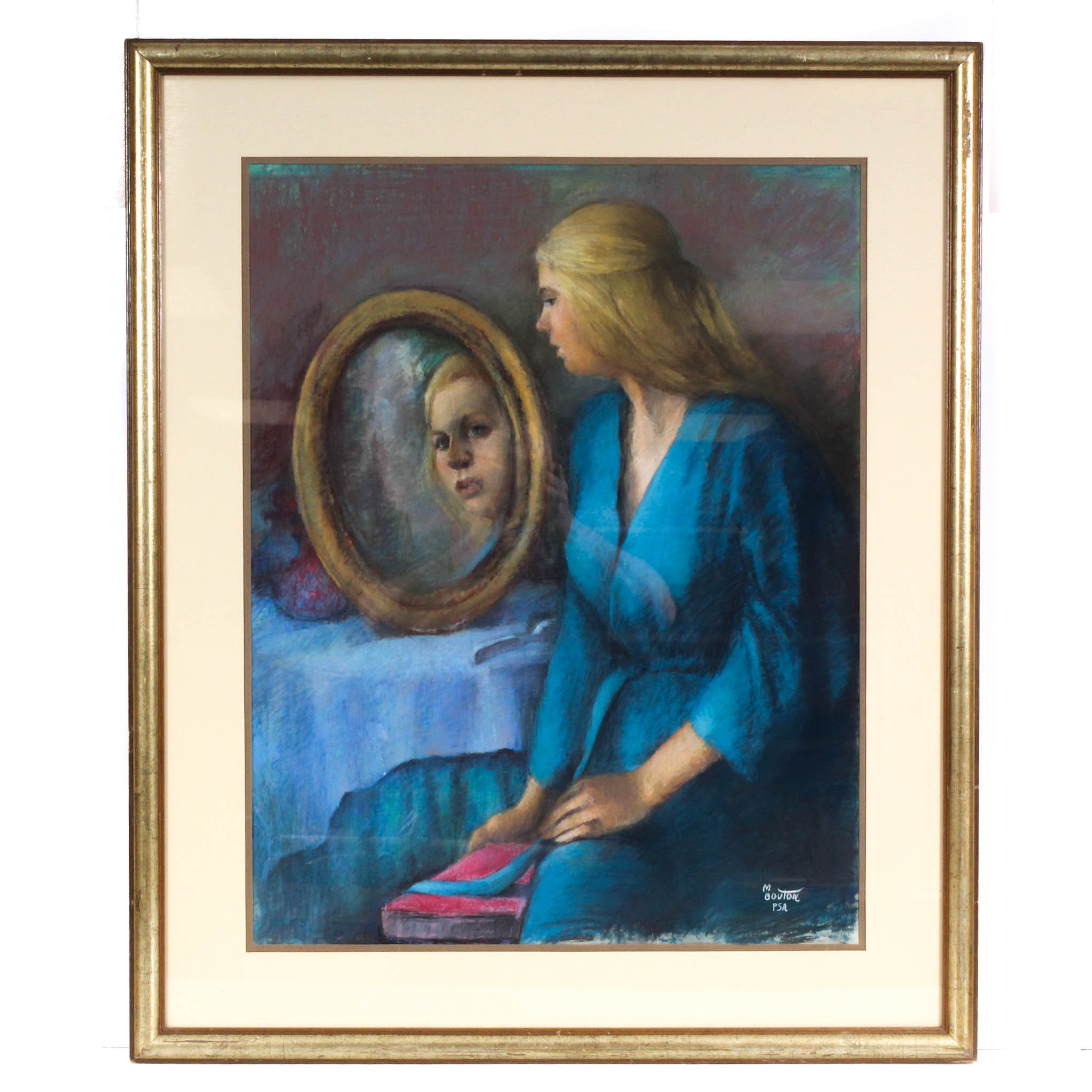 Marcia Burnett Bouton Pastel Drawing