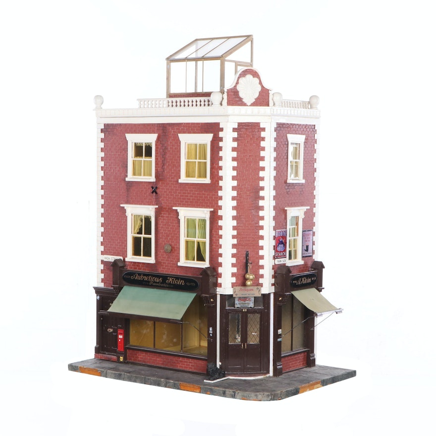 1079d91de2467 English Pawnbroker and Antique Store Dollhouse with Miniatures   EBTH