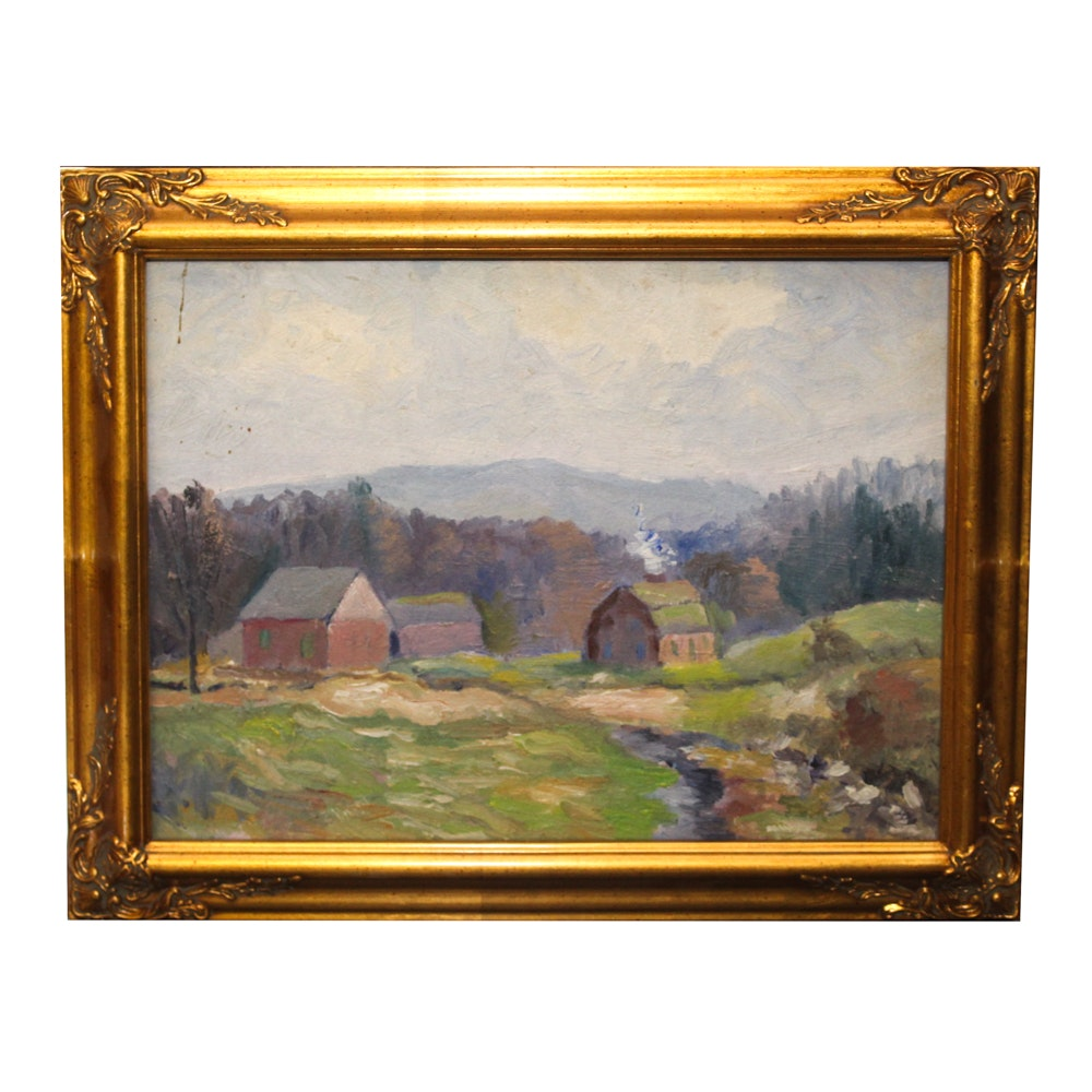 Emmett Pratt Oil Painting of Homestead