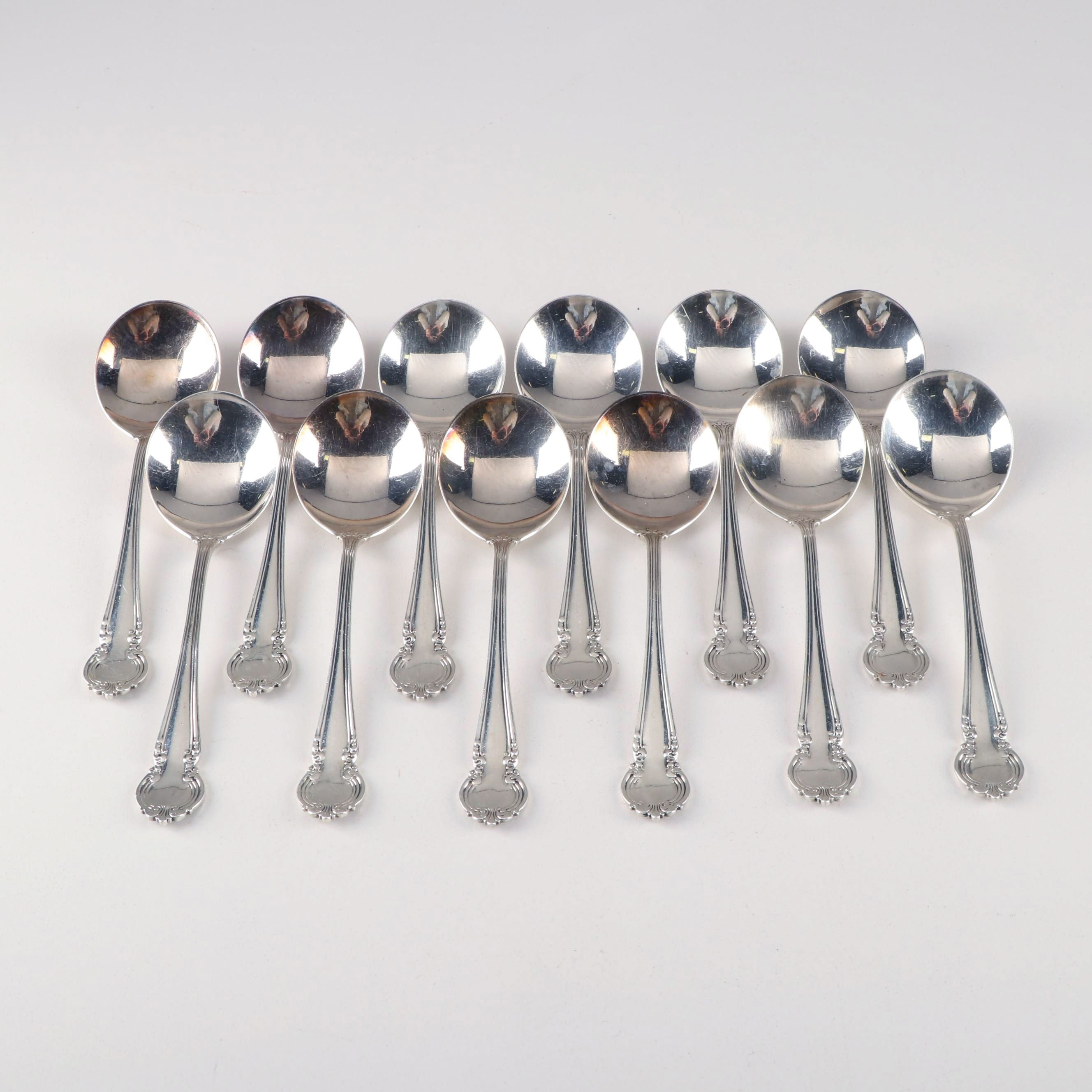 "Reed and Barton Sterling ""La Comtesse"" Boullion Soup Spoons"