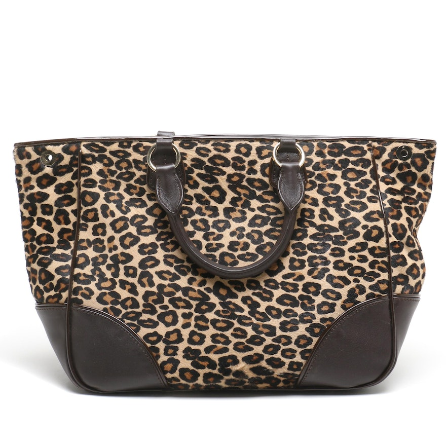 3adfcb3f0523 Tiffany & Co. Leopard Print Pony Hair and Leather Tote : EBTH