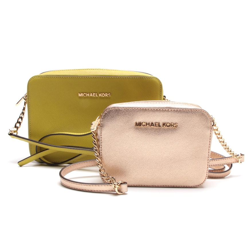 b64b0978b96c MICHAEL Michael Kors Saffiano Leather Crossbody Bags   EBTH