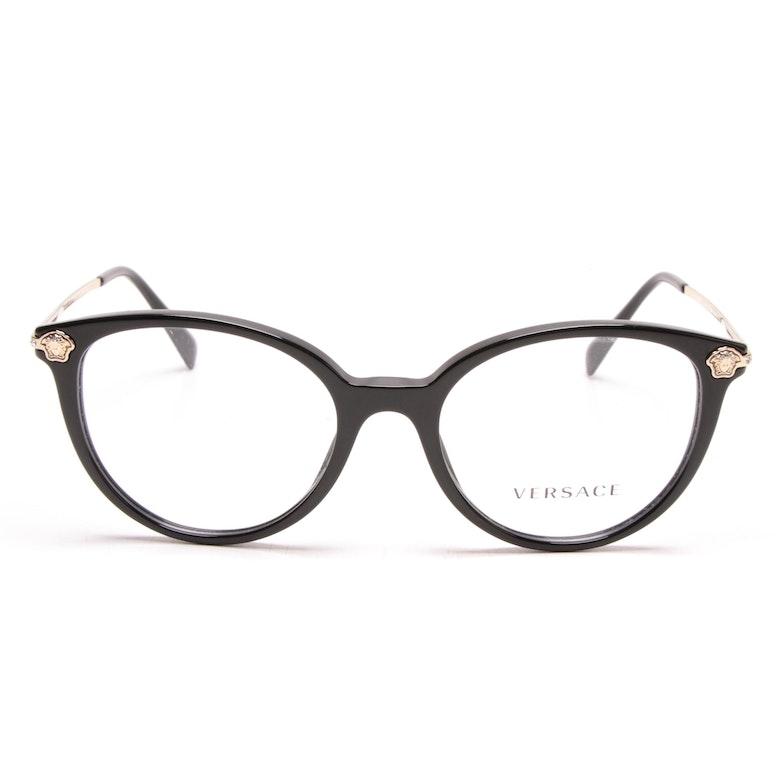 13195a5a2f4 Versace Medusa Accented Black Round Eyeglasses   EBTH