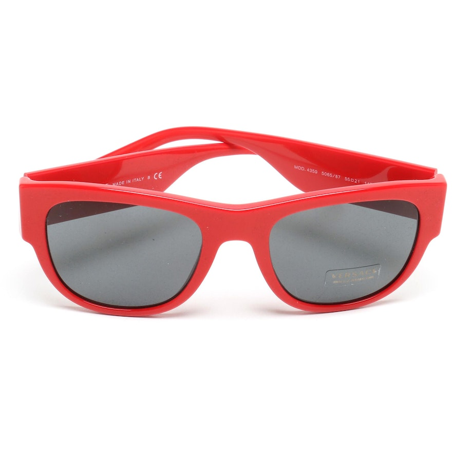 45e6c51d89 Versace Red Medusa Accent Sunglasses with Case and Box   EBTH