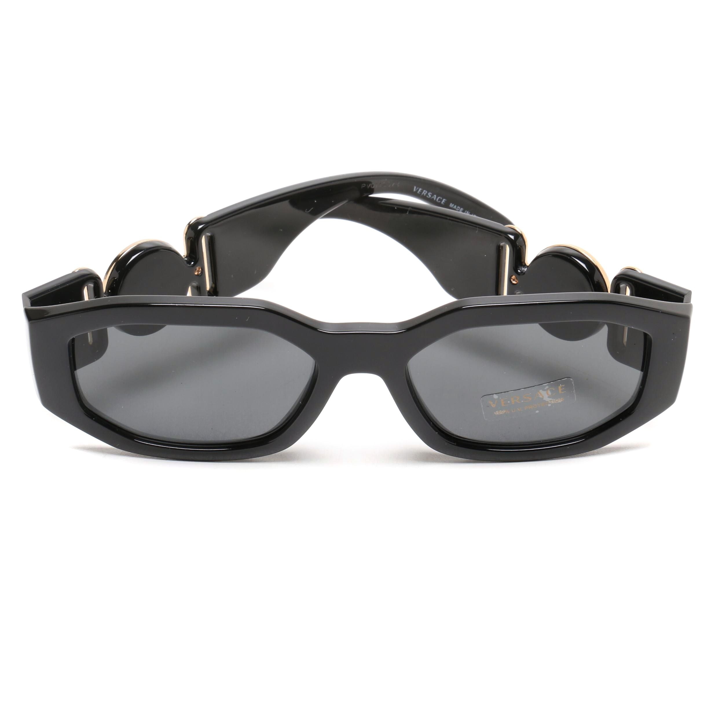 Versace Medusa Accented Black Sunglasses
