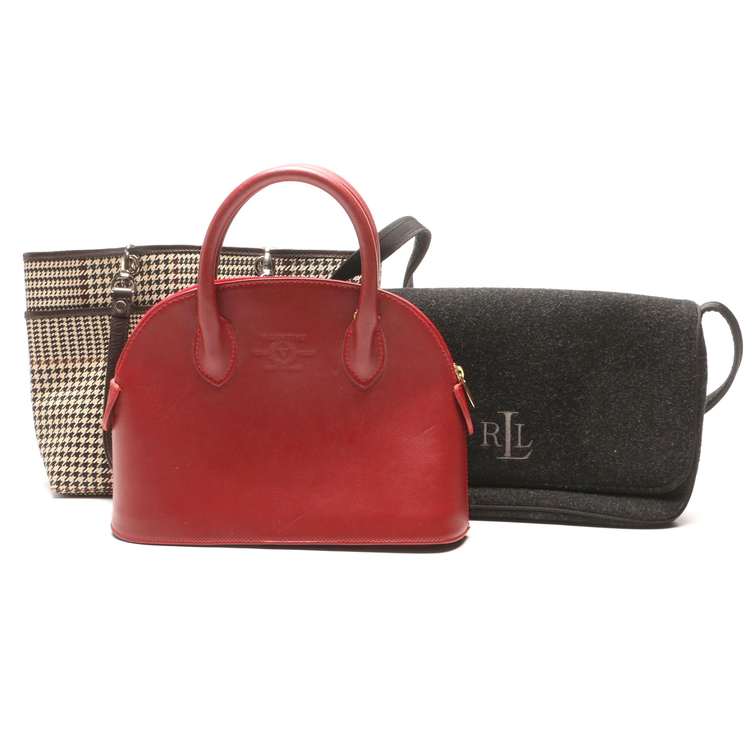 Lauren Ralph Lauren and Valentine Handbags