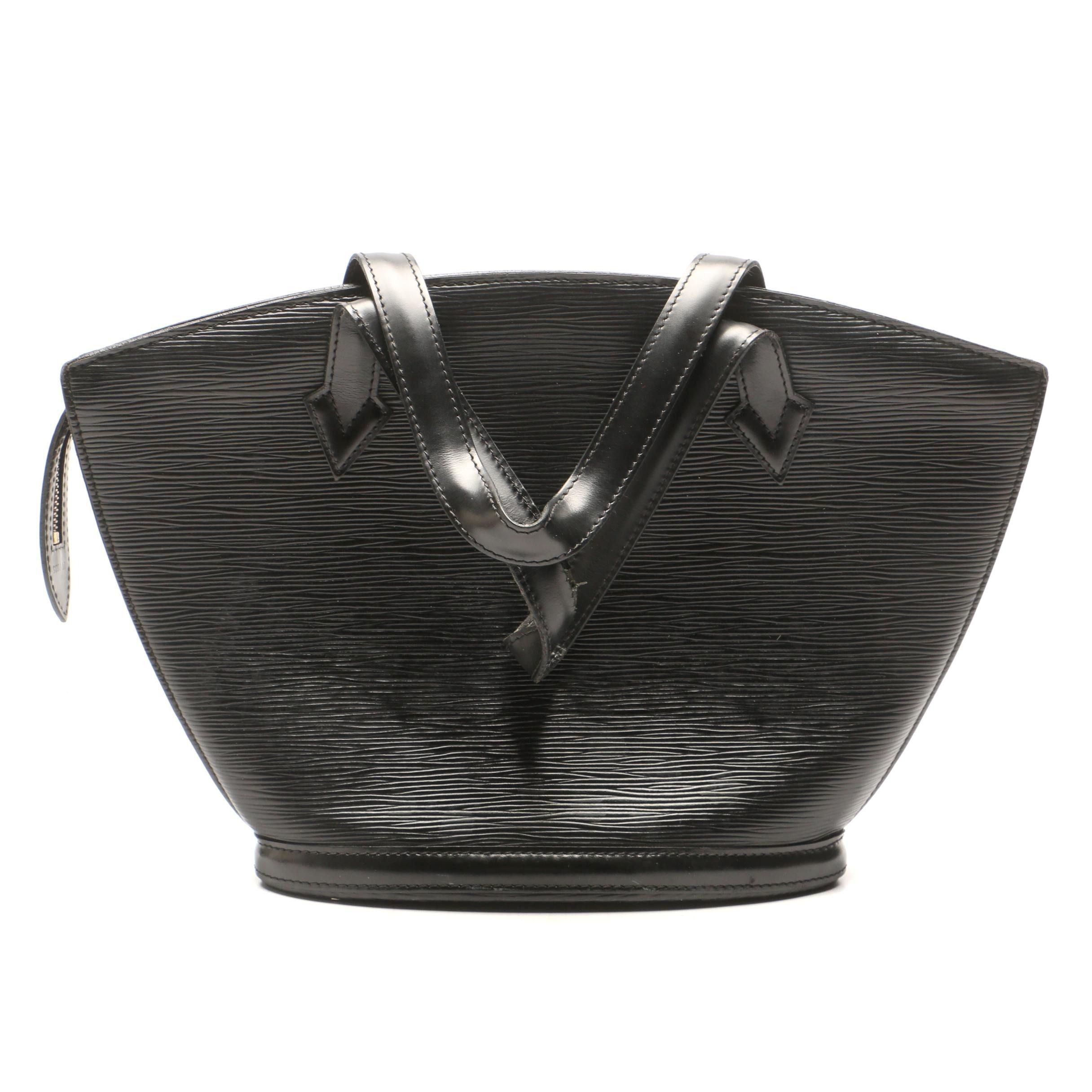 Louis Vuitton Paris Black Epi Leather Saint Jacques, 1995
