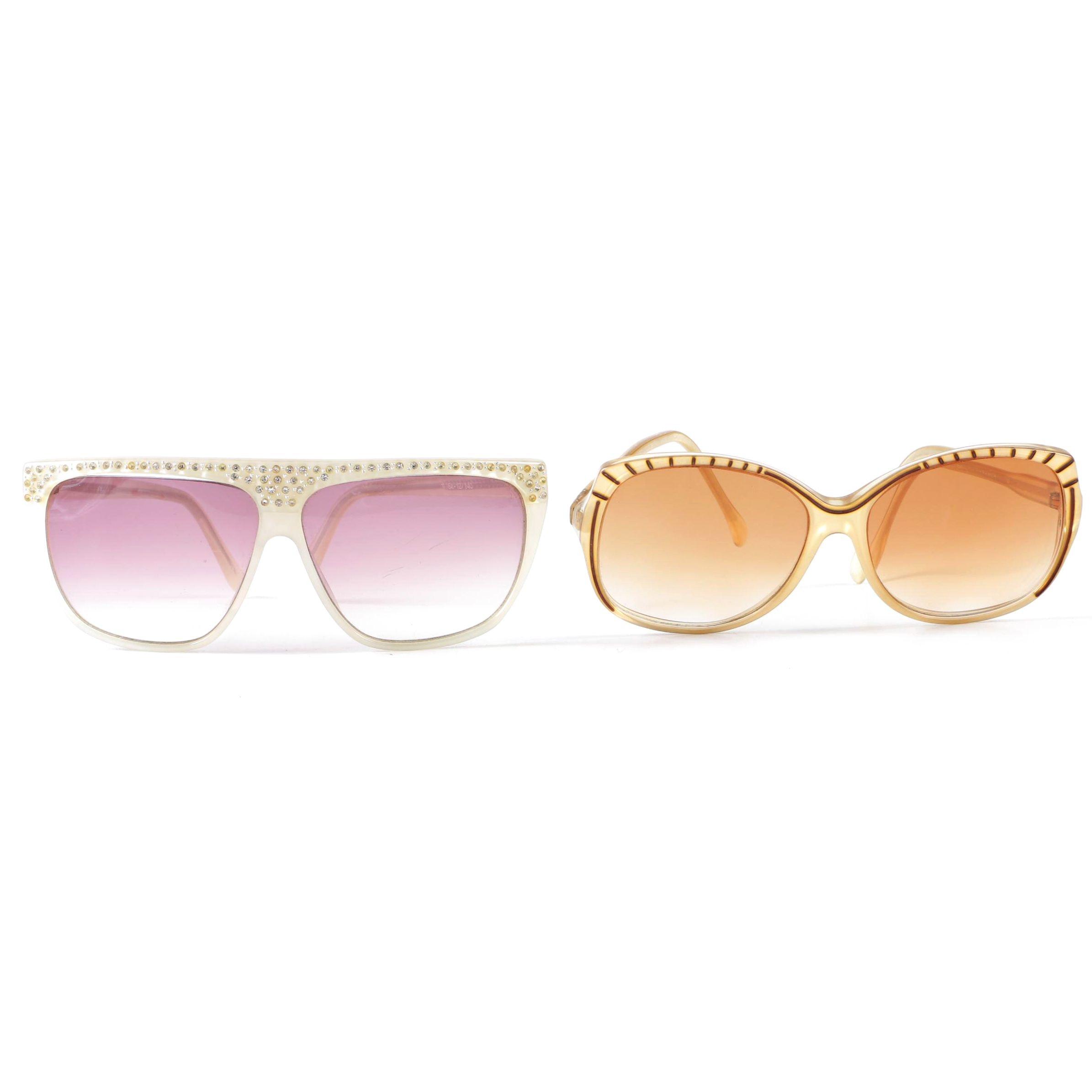 Oversized Sunglasses Including Nina Ricci Paris, Vintage