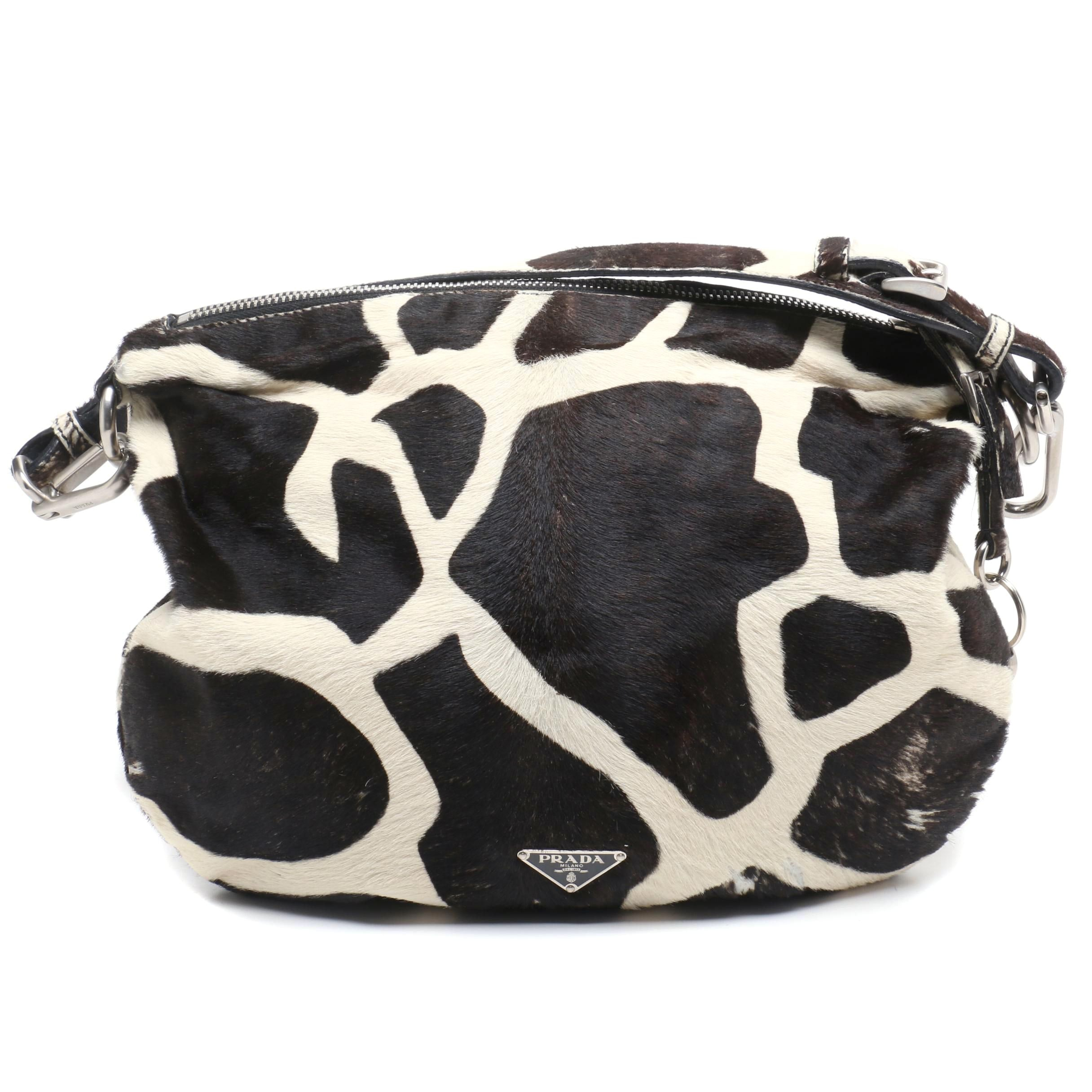Prada Giraffe Dyed Calf Hide Shoulder Bag