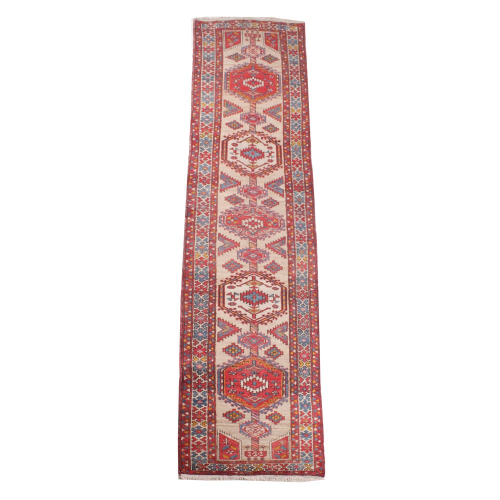 3'5 x 14'10 Hand-Knotted Persian Serab Carpet Runner, circa 1920