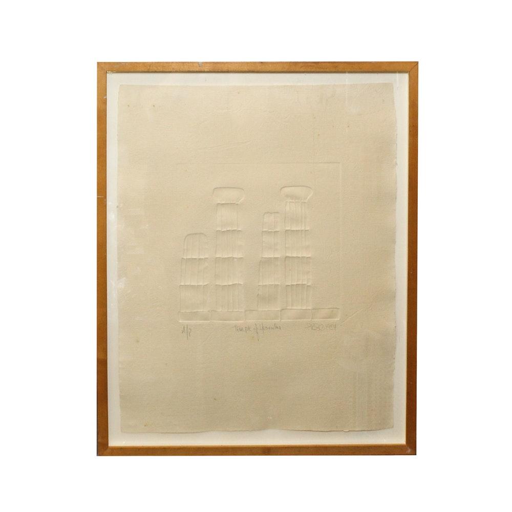 """PRSC Embossed Print """"Temple of Hercules"""""""
