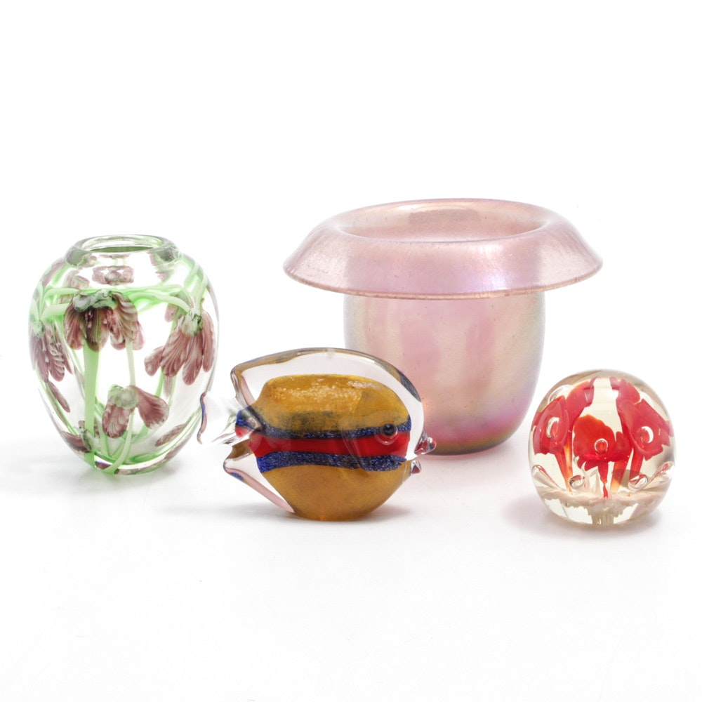 Blown Glass Vases and Paperweights