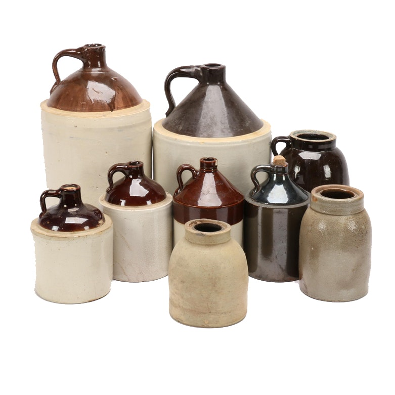 Stoneware Jugs and Crocks Featuring Robinson Ransbottom *Incomplete*