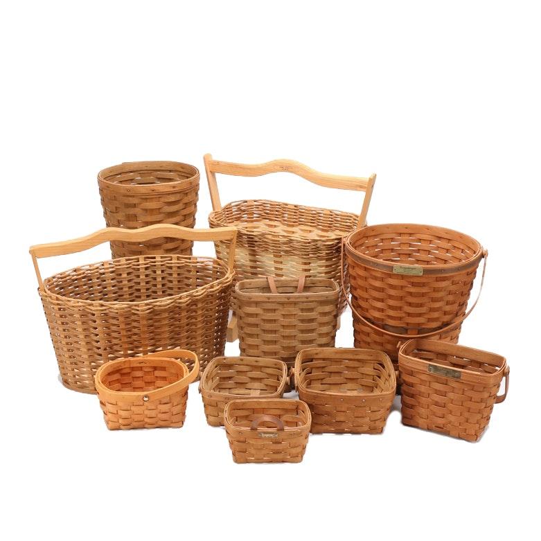 Woven Baskets including Longaberger