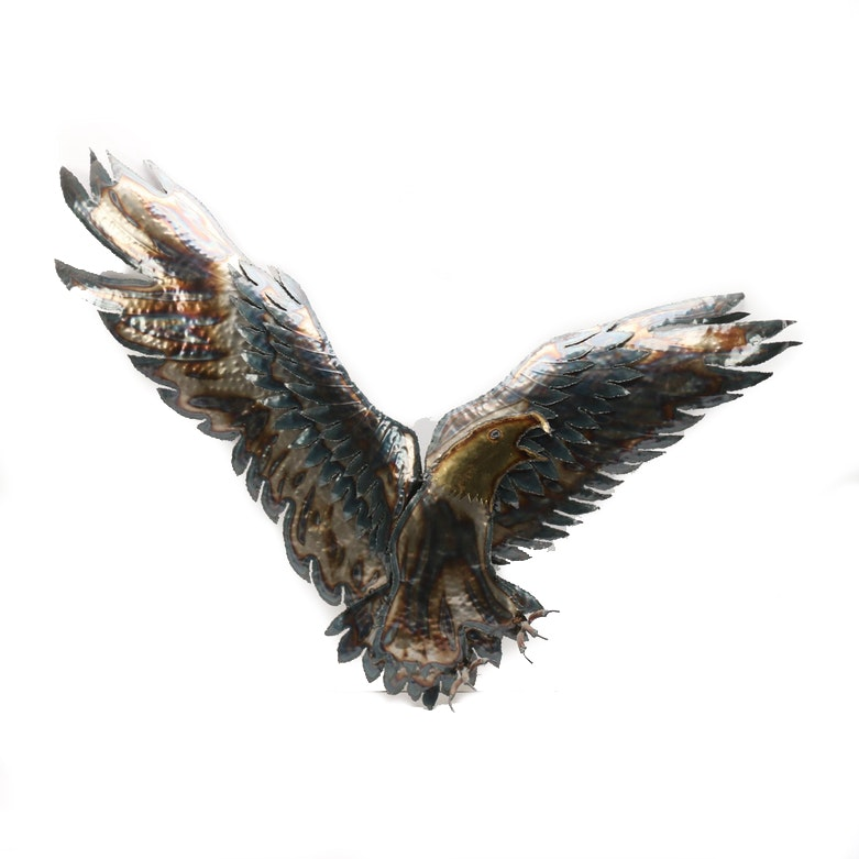Metal Eagle Wall Sculpture