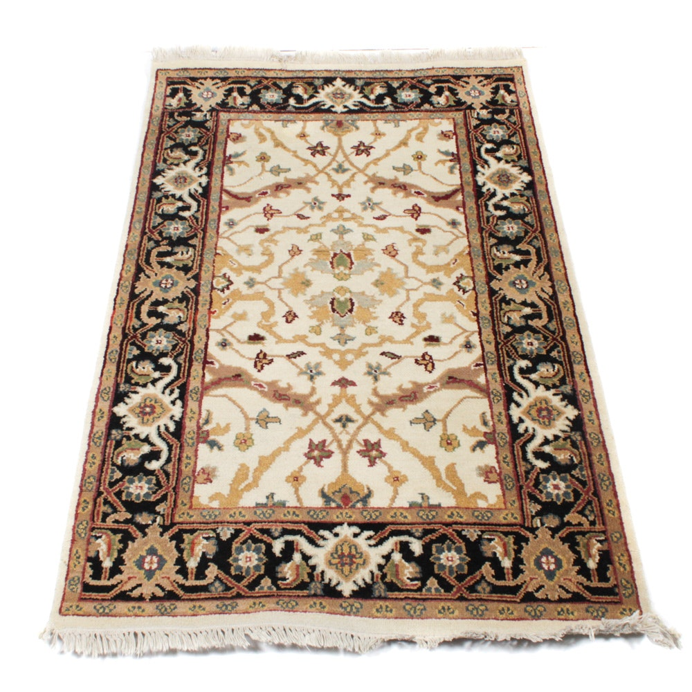 Hand-Knotted Indo-Persian Floral Rug