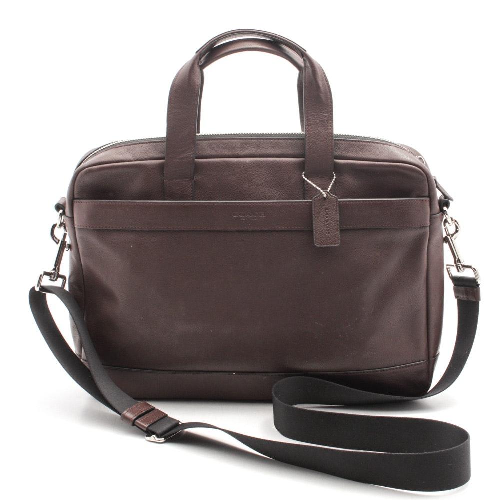 Coach Hamilton Brown Leather Briefcase Messenger Crossbody Bag