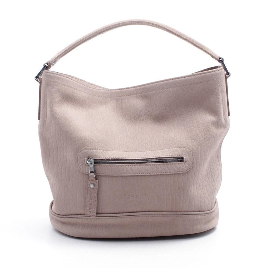 0e18d551d206 Longchamp Taupe Leather Tote Bag
