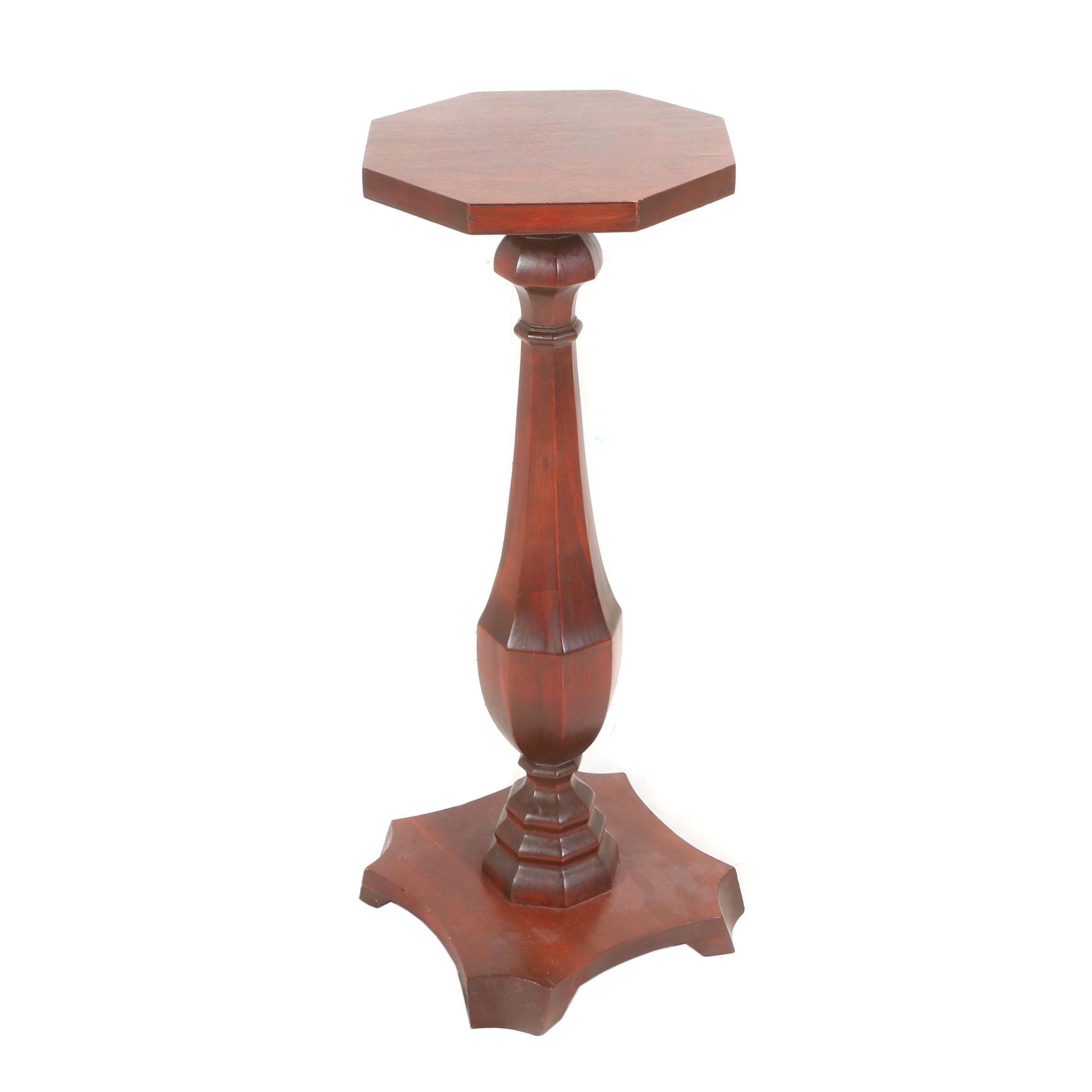 Classical Style Mahogany Pedestal, Early 20th Century
