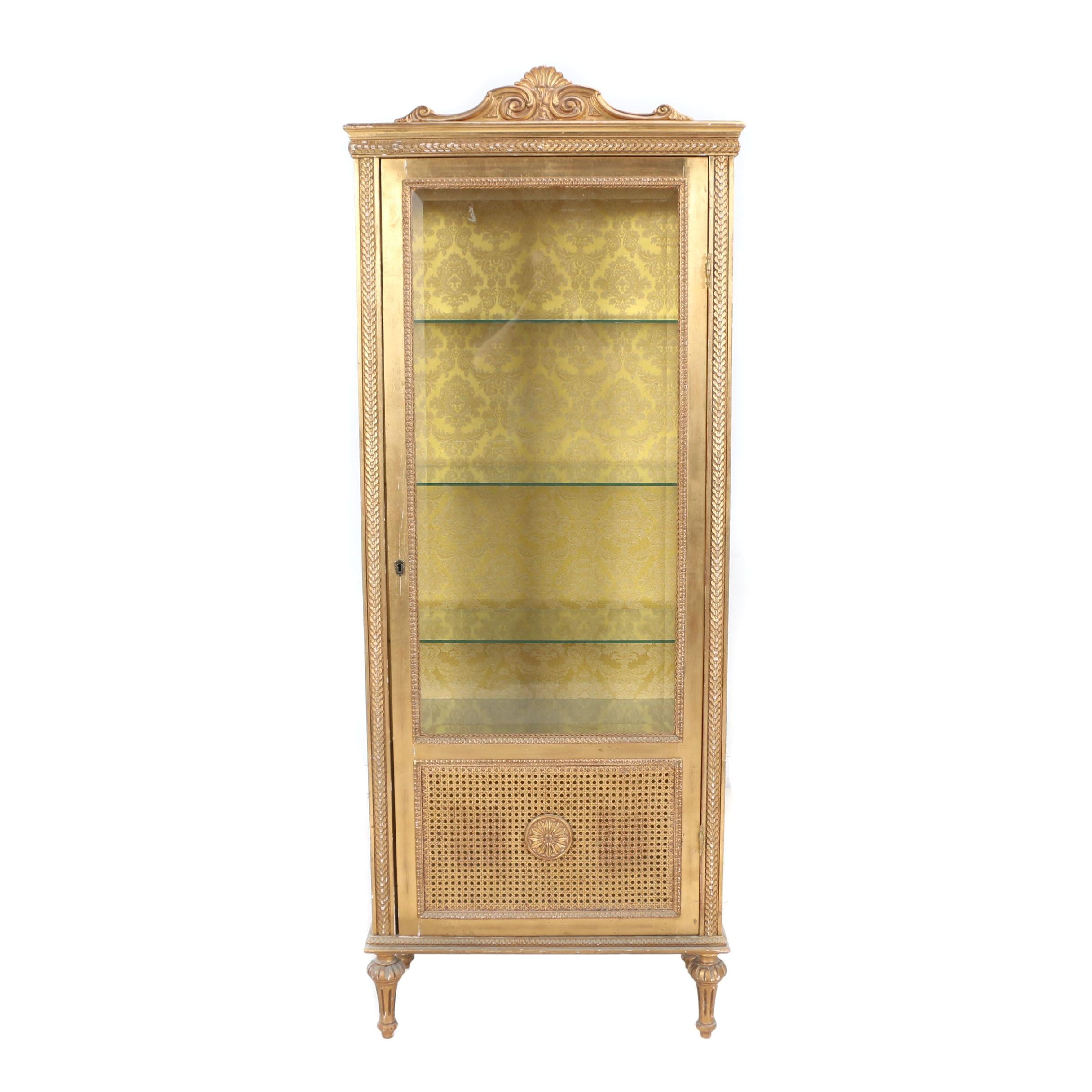 Louis XVI Style Giltwood Vitrine, Second Quarter 20th Century