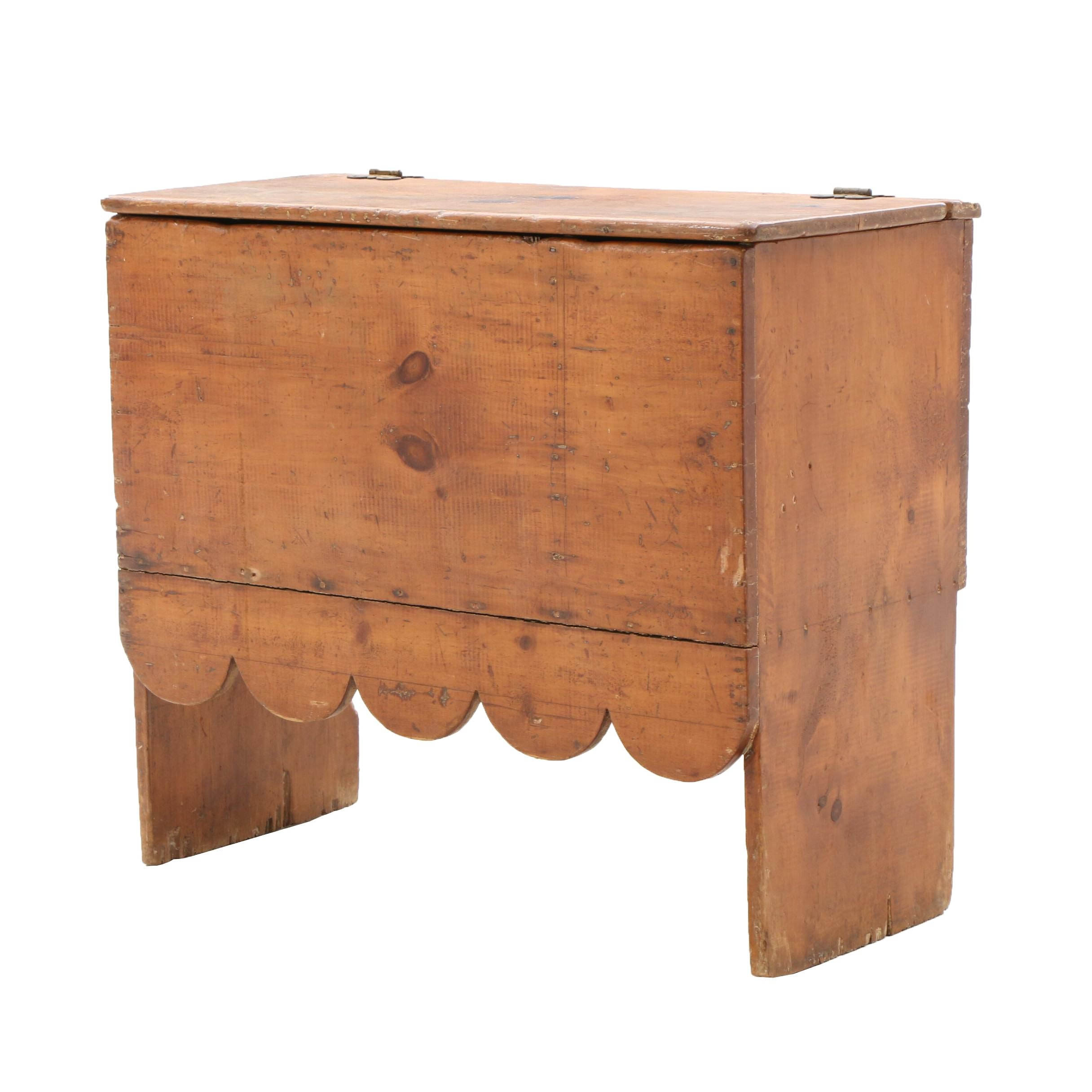 Primitive Pine Mule Chest, Circa 1850