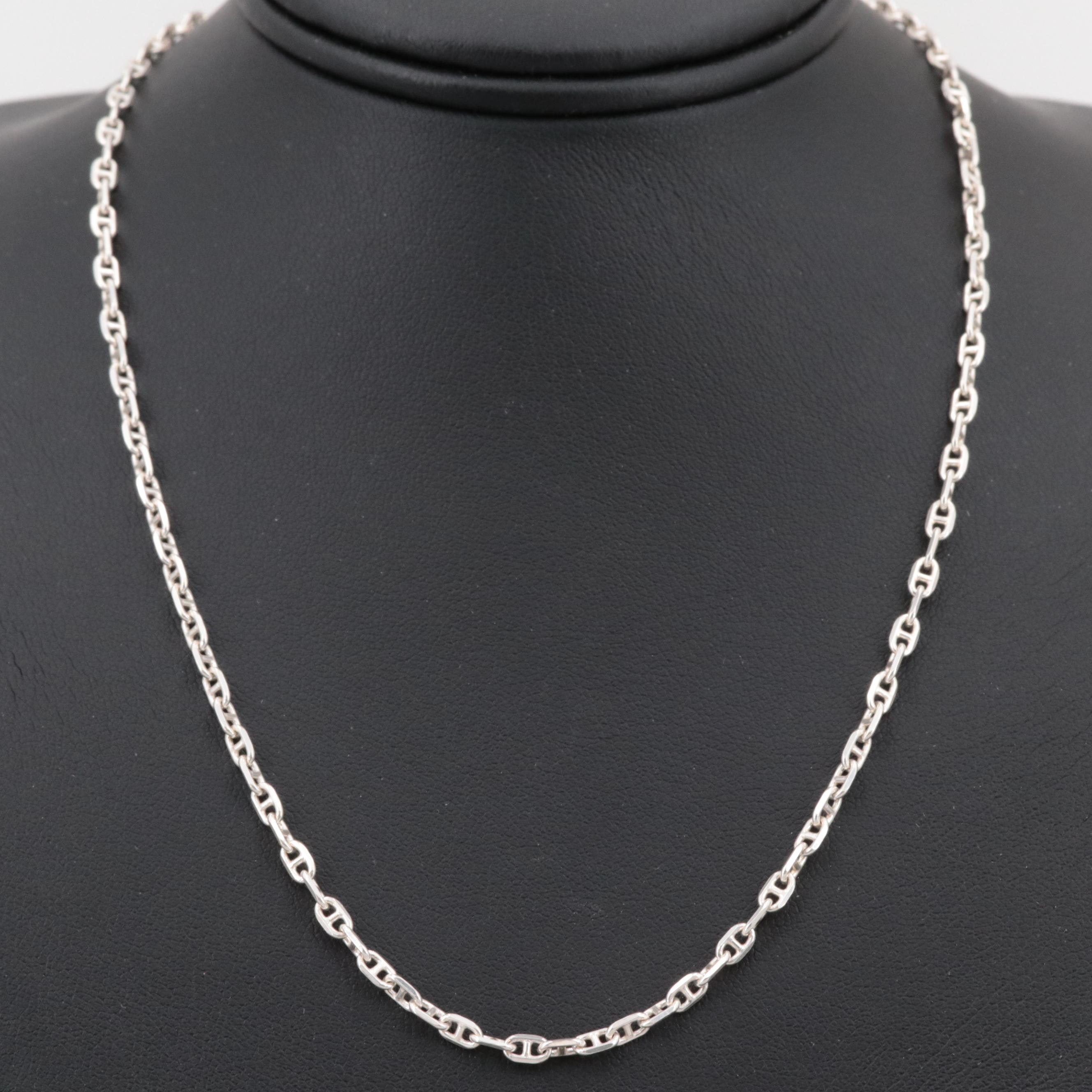 Sterling Silver Anchor Chain Necklace
