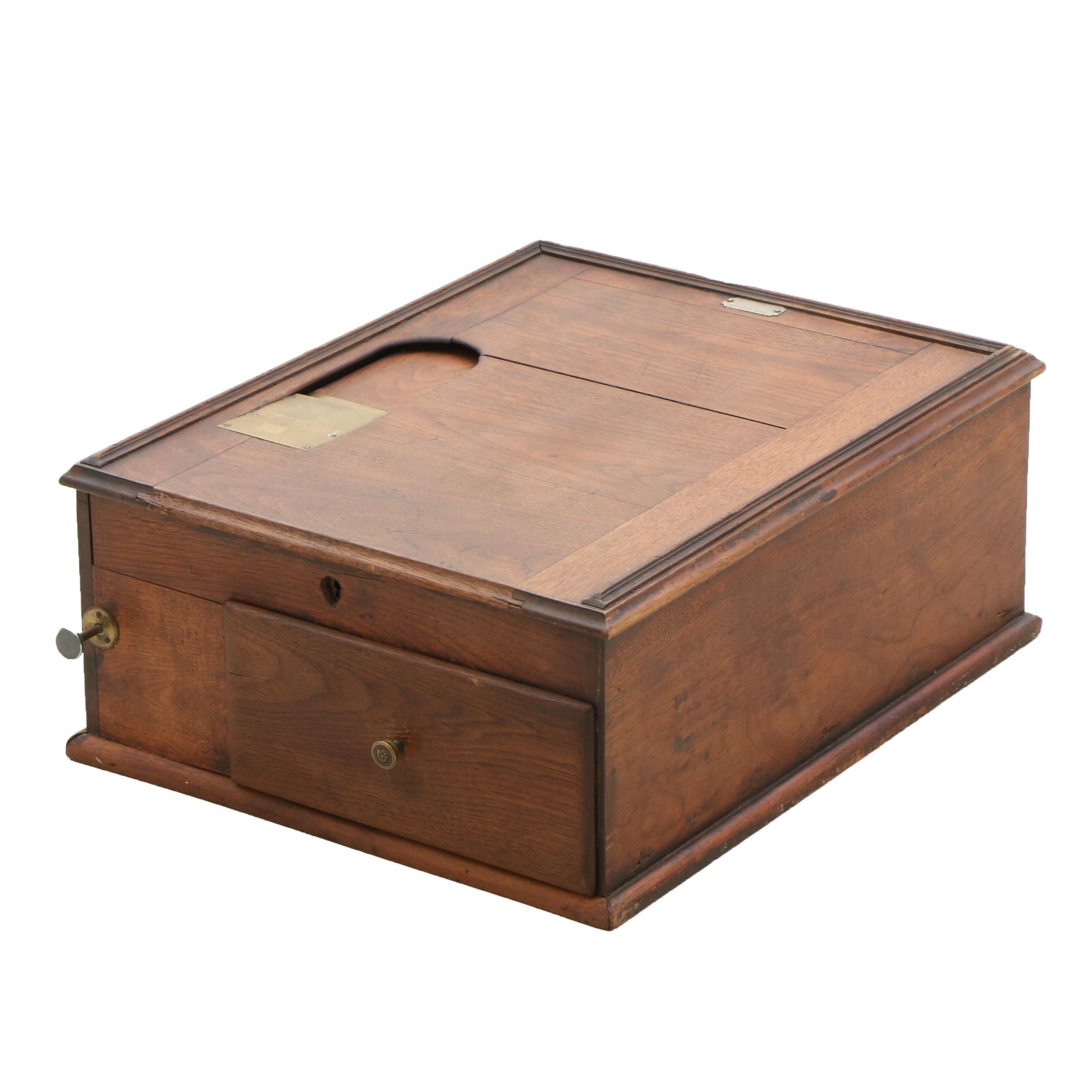 Victorian Walnut Cash Register