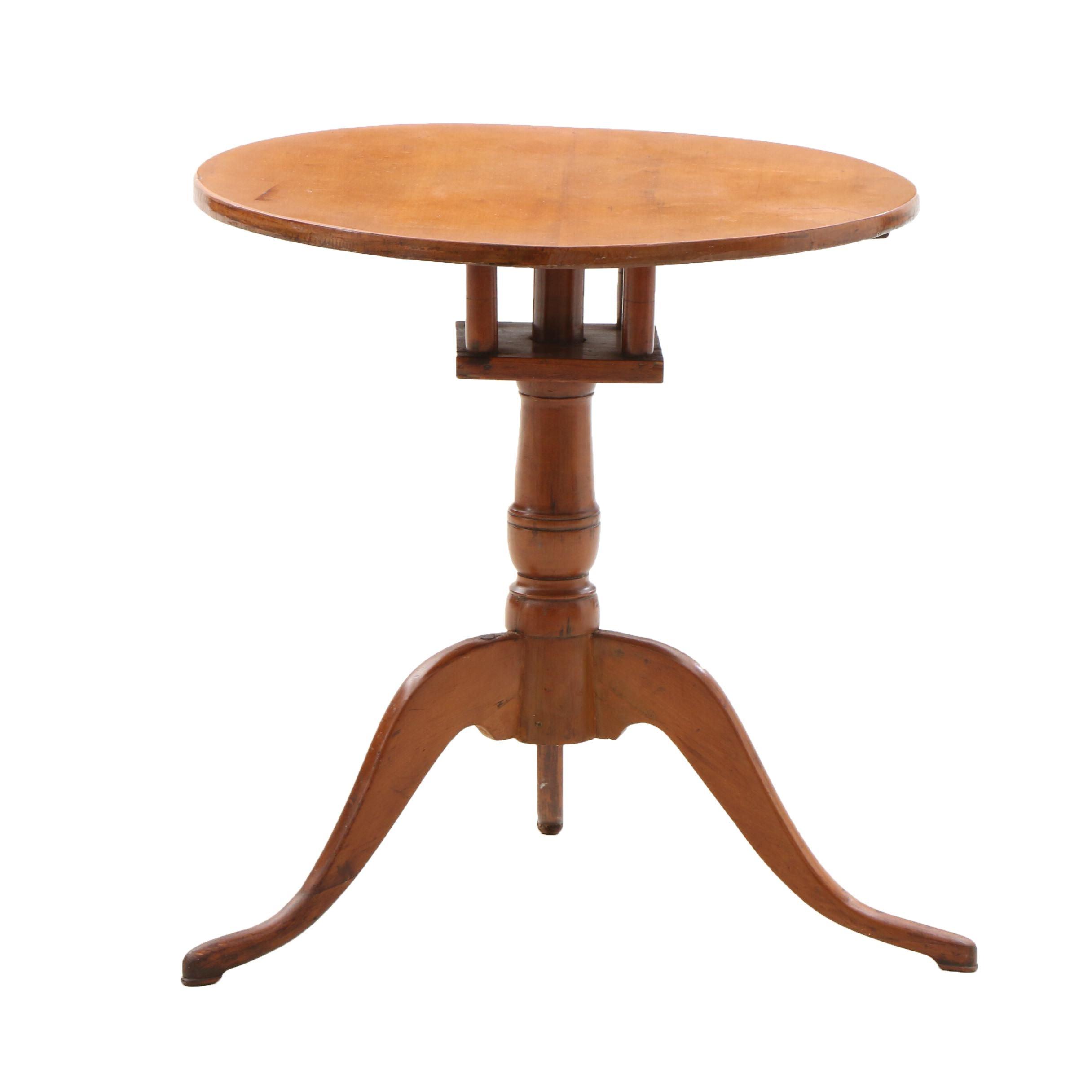 Federal Maple Birdcage Tea Table Ca. early 19th Century