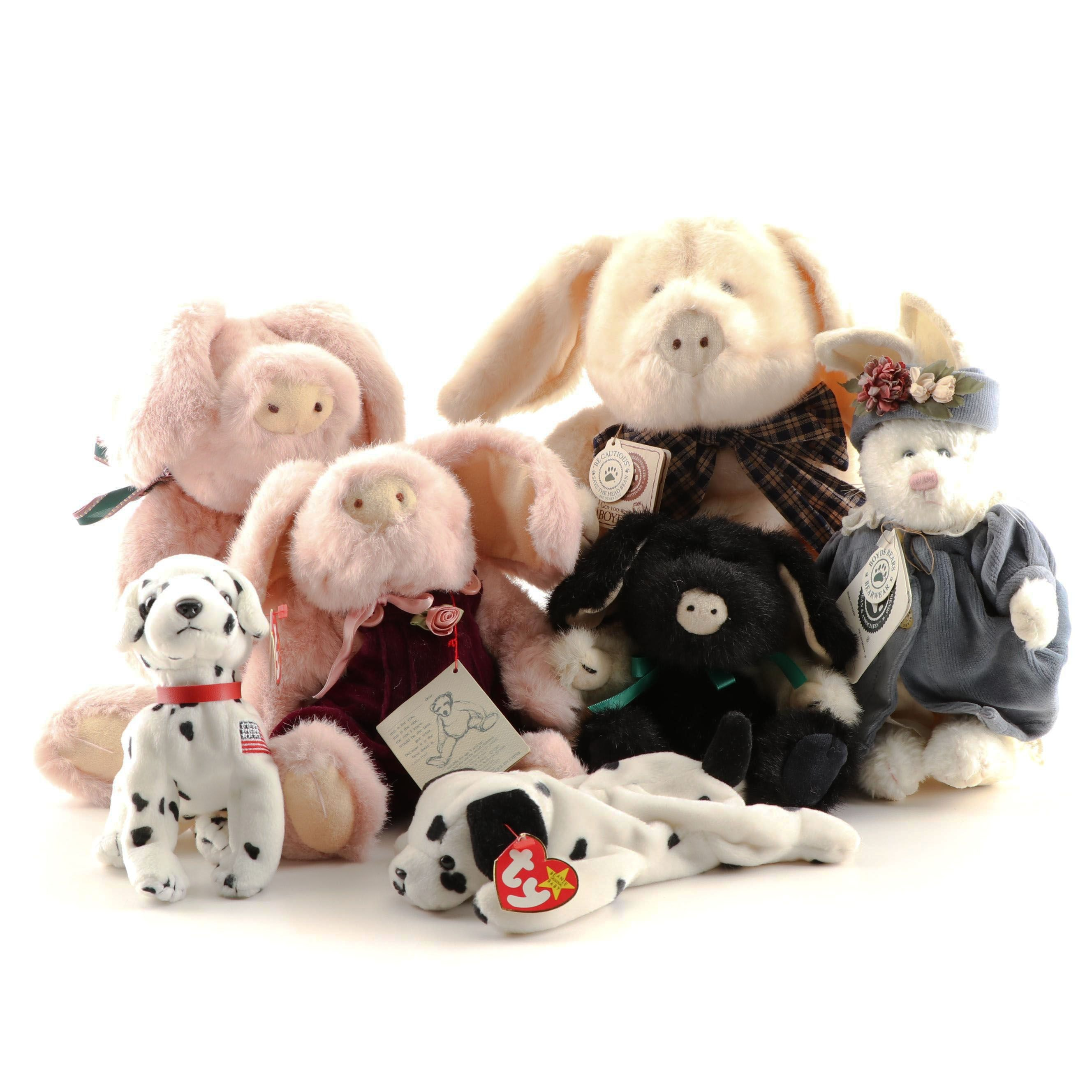 Stuffed Toys Featuring Ty Beanie Babies And Boyd's Collection