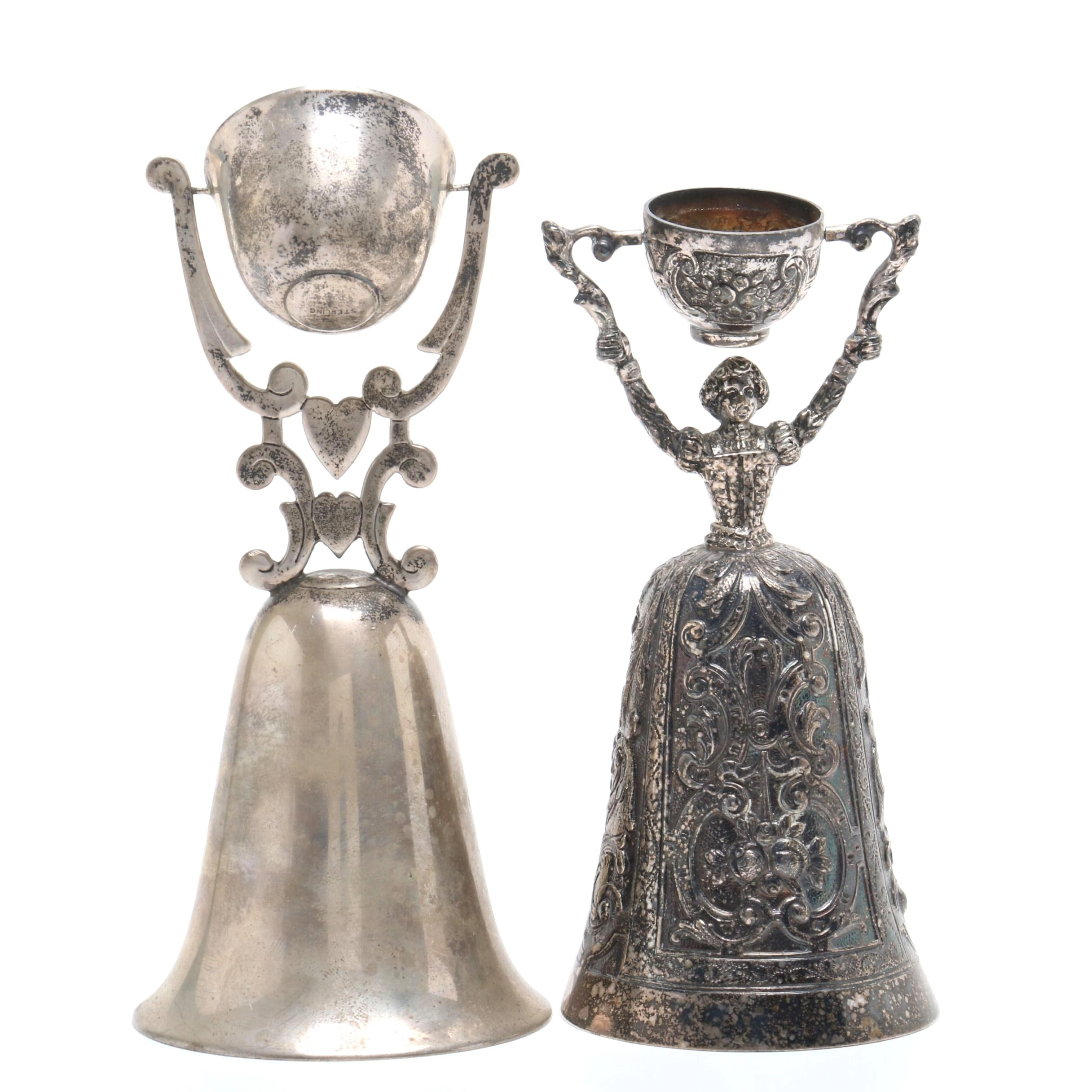 Sterling Silver Wedding Cups Including Israel Freeman & Son