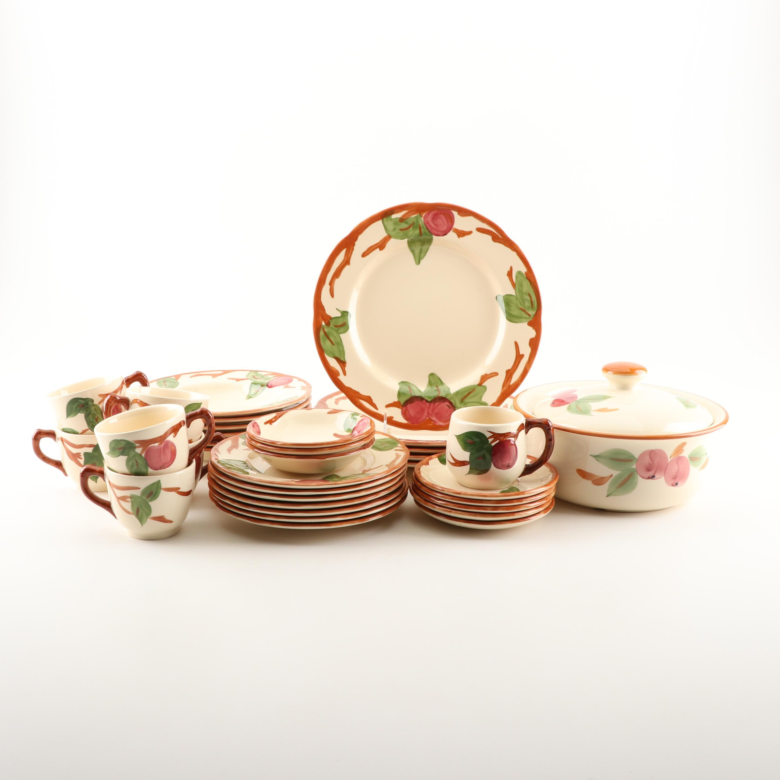 "Franciscan ""Apple"" Earthenware Dinnerware, Featuring English Backstamp"