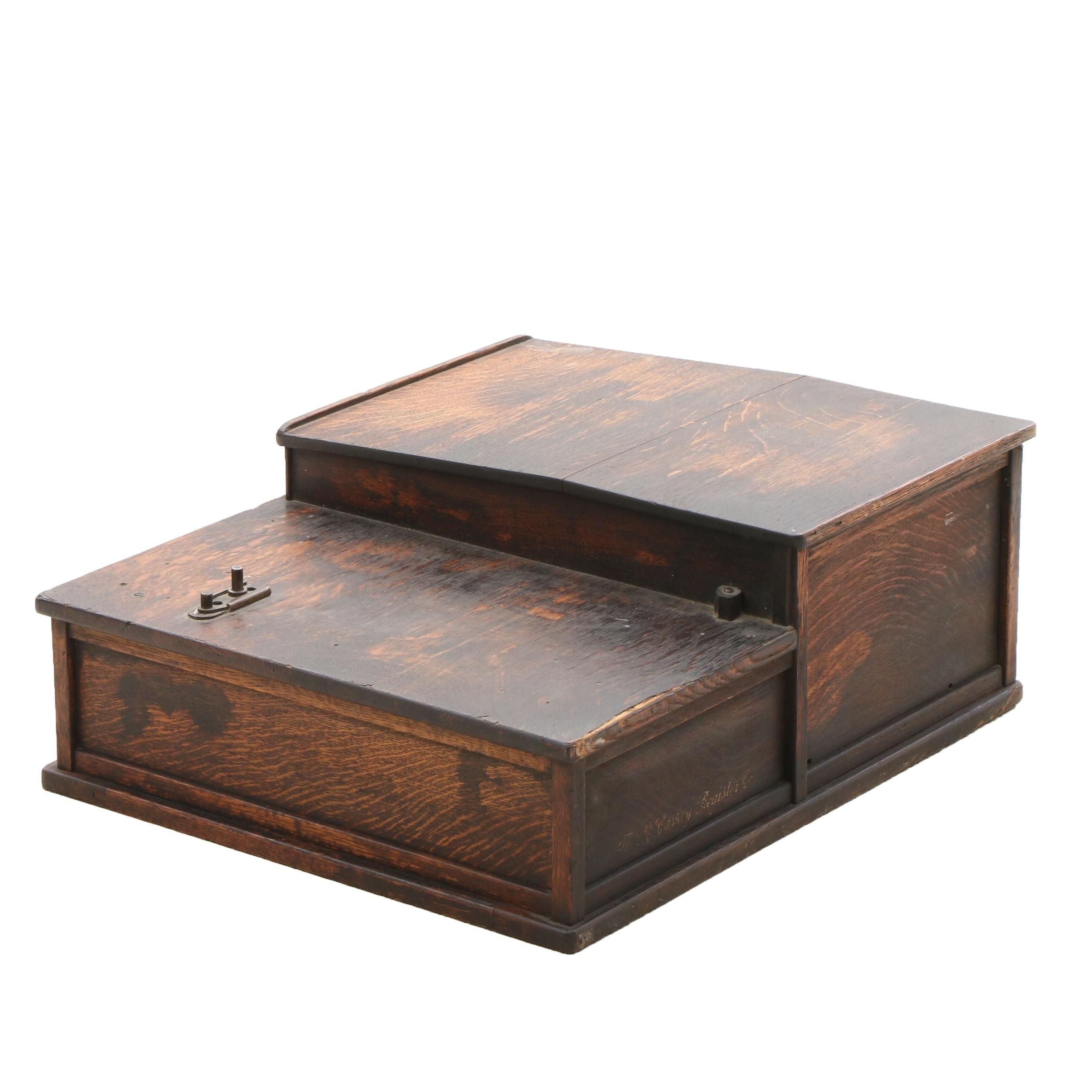 Antique McCaskey Register Walnut Cash Box