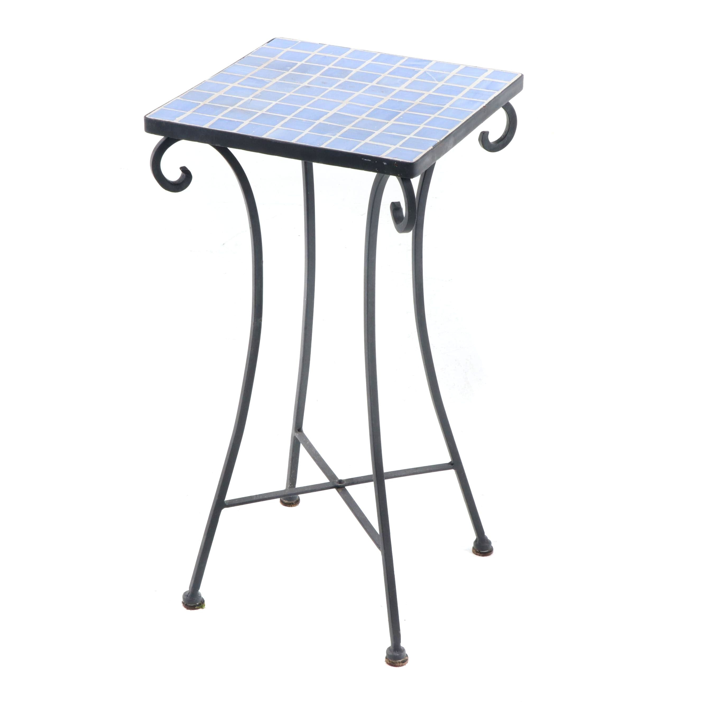 Metal Mosaic Accent Table