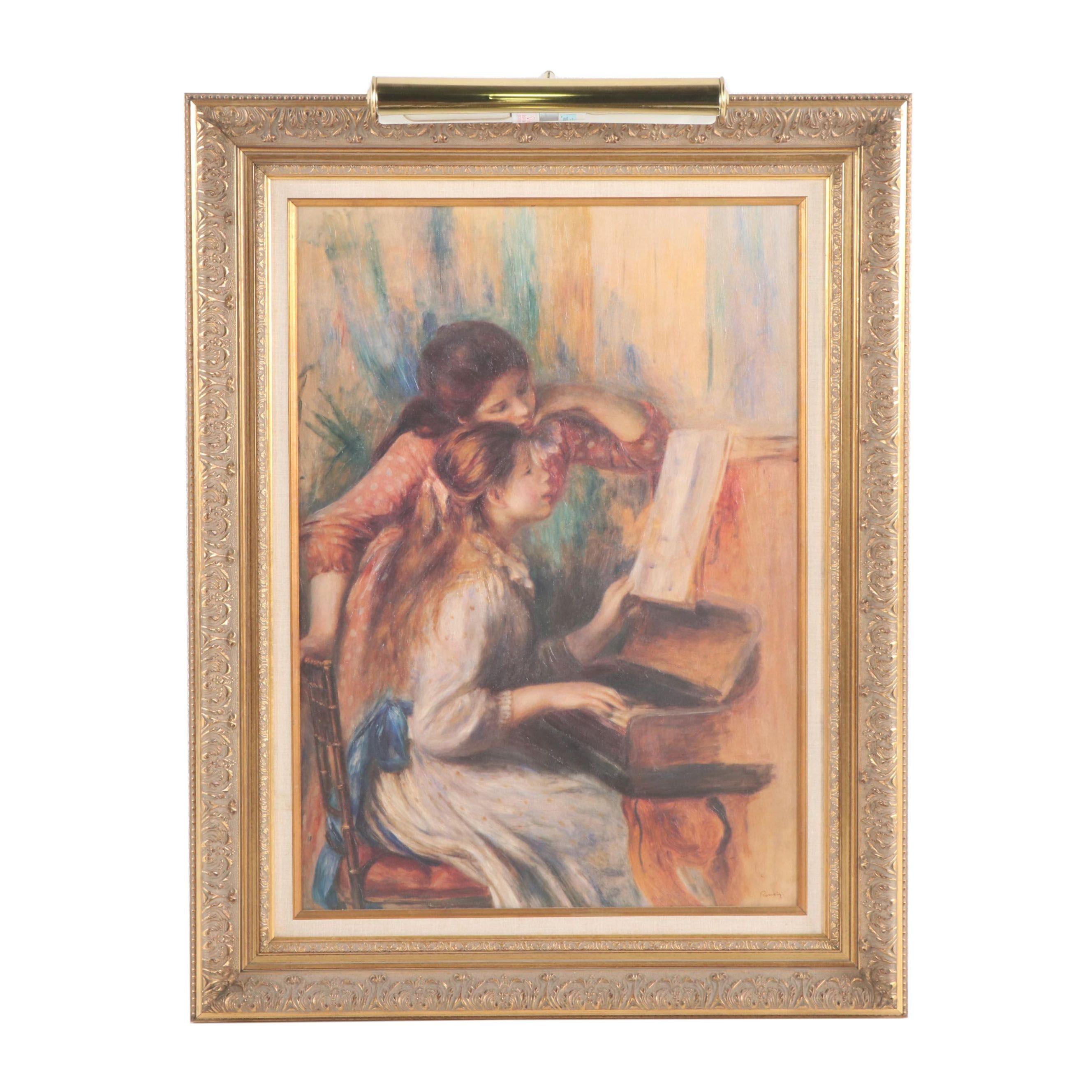 """After Pierre - Auguste Renoir Giclee """"Jeunes filles au piano"""""""