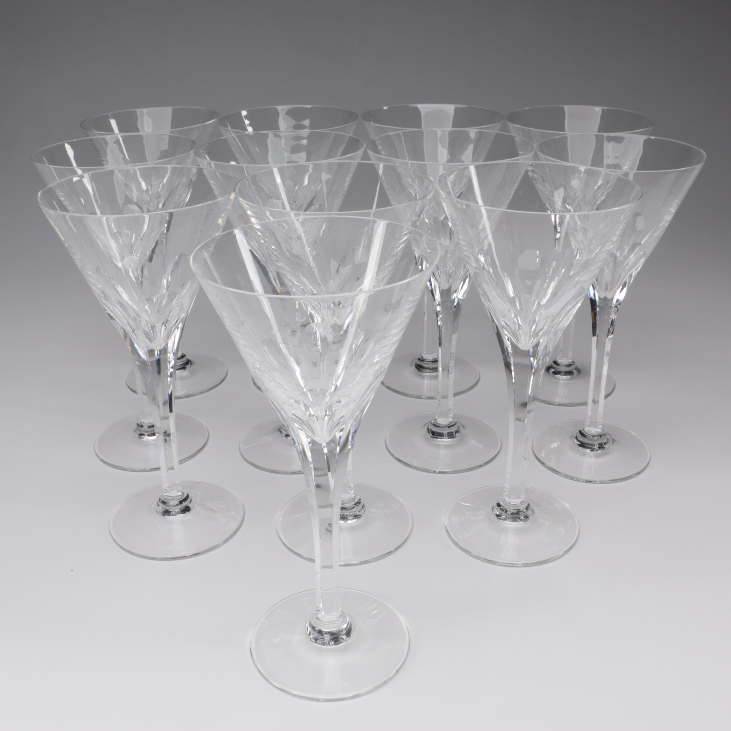 "Stuart Crystal ""Symphony"" Claret Wine Glasses, Late 20th Century"