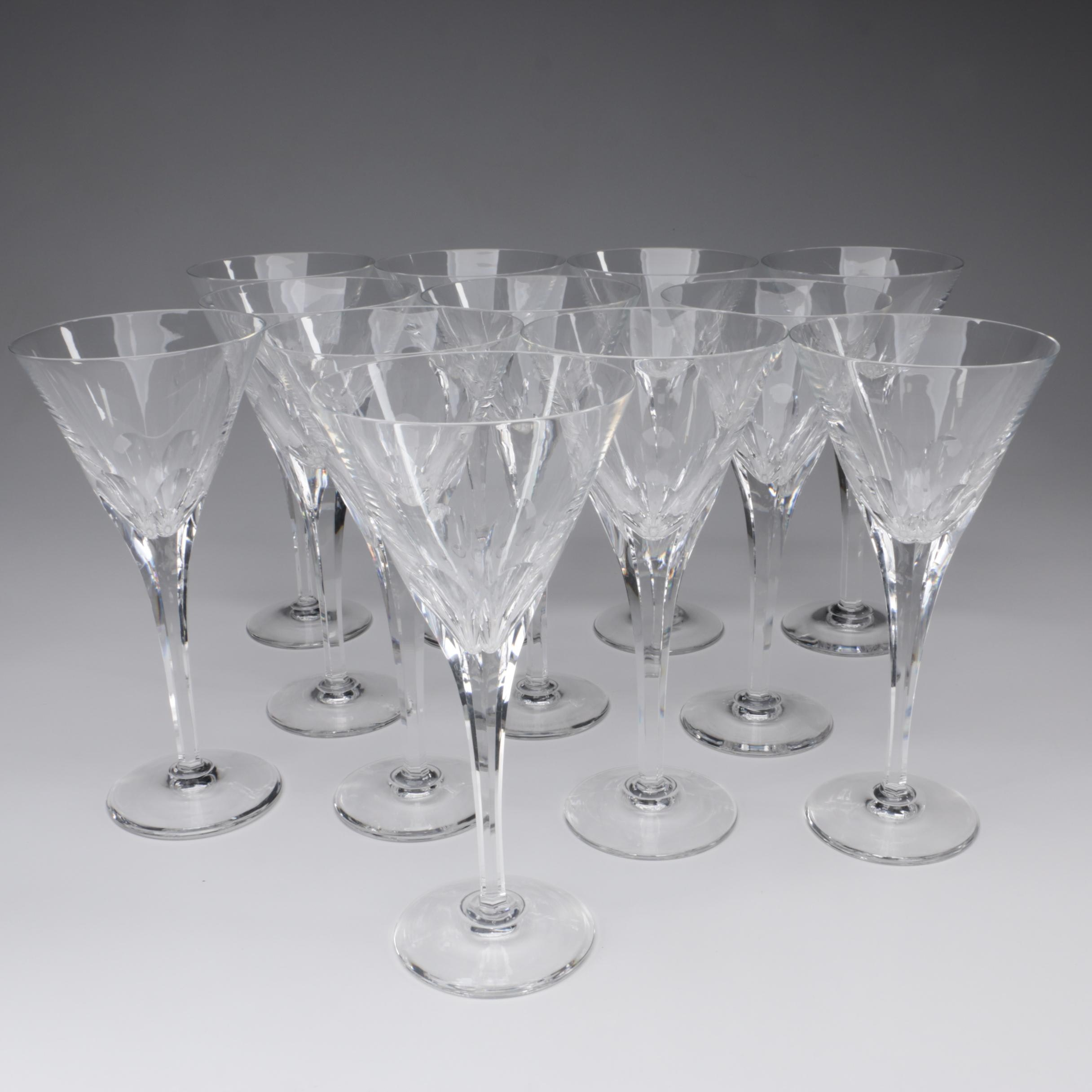 "Stuart Crystal ""Symphony"" Water Goblets, Late 20th Century"