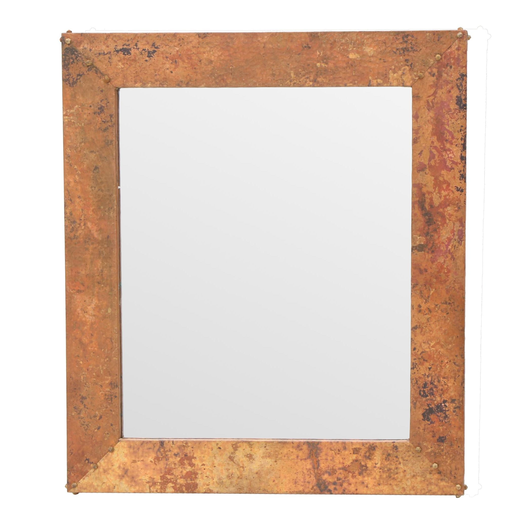 Handcrafted Copper Framed Mirror
