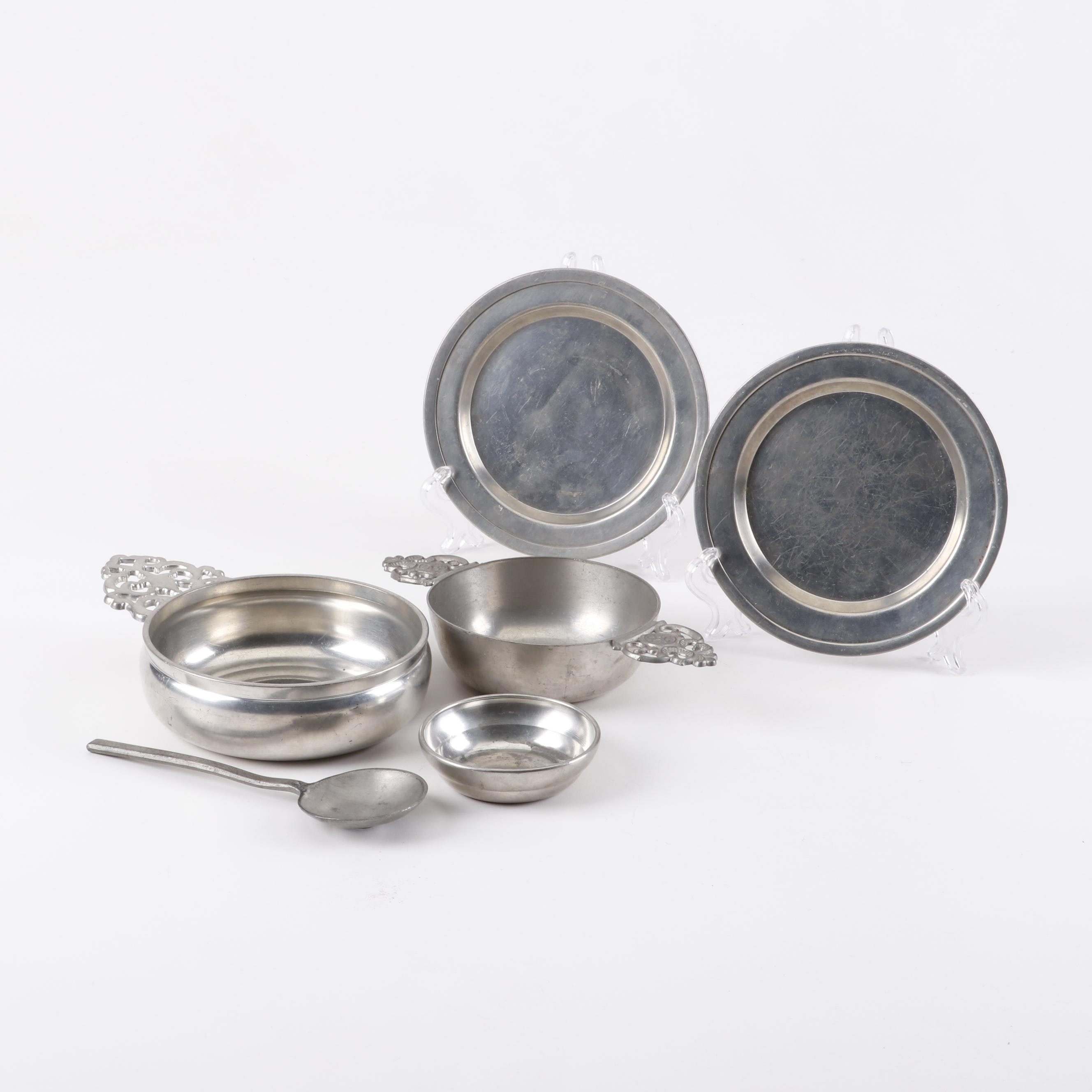 Vintage Pewter Tableware