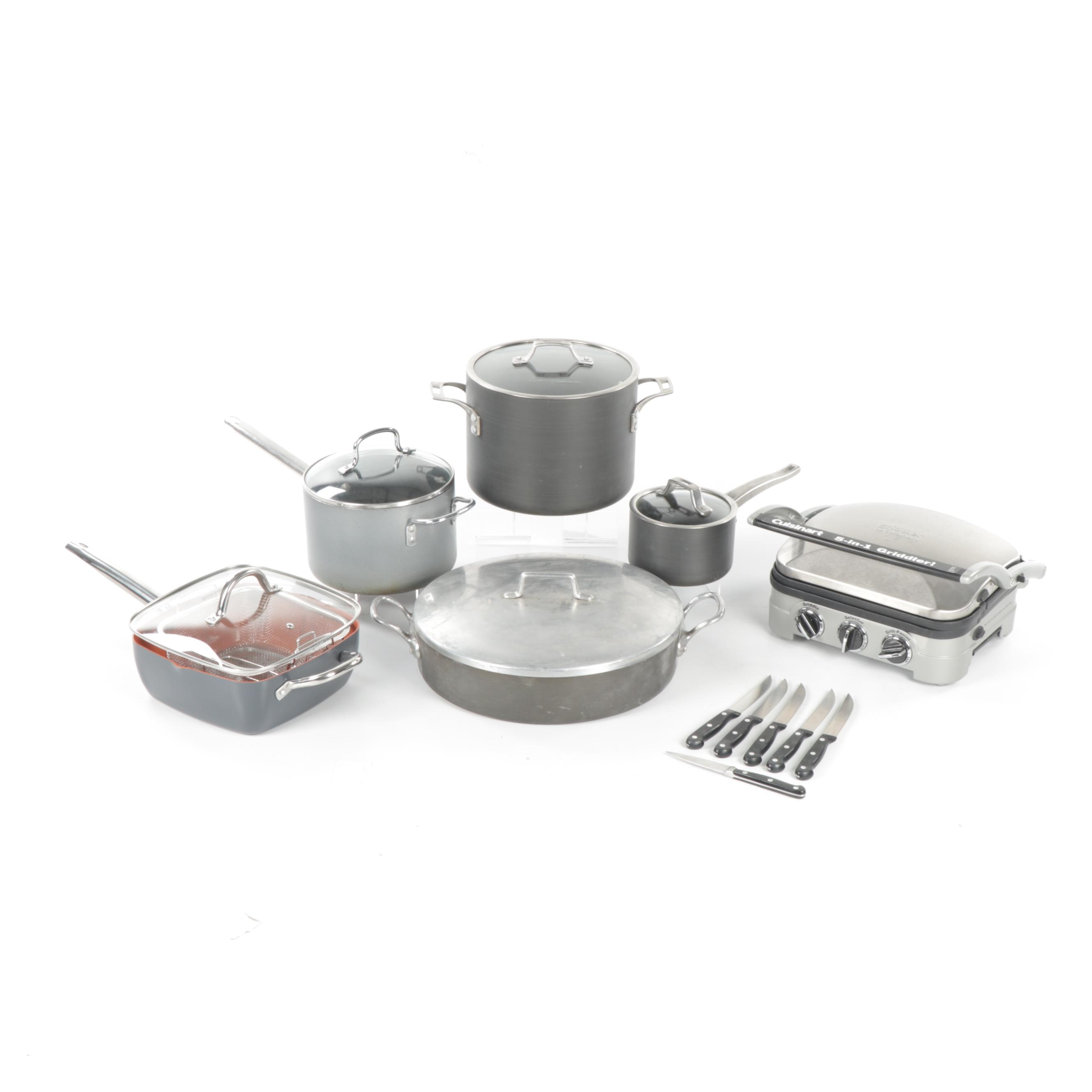 Collection of Cookware and Cutlery with Cuisinart, Wüsthof and More