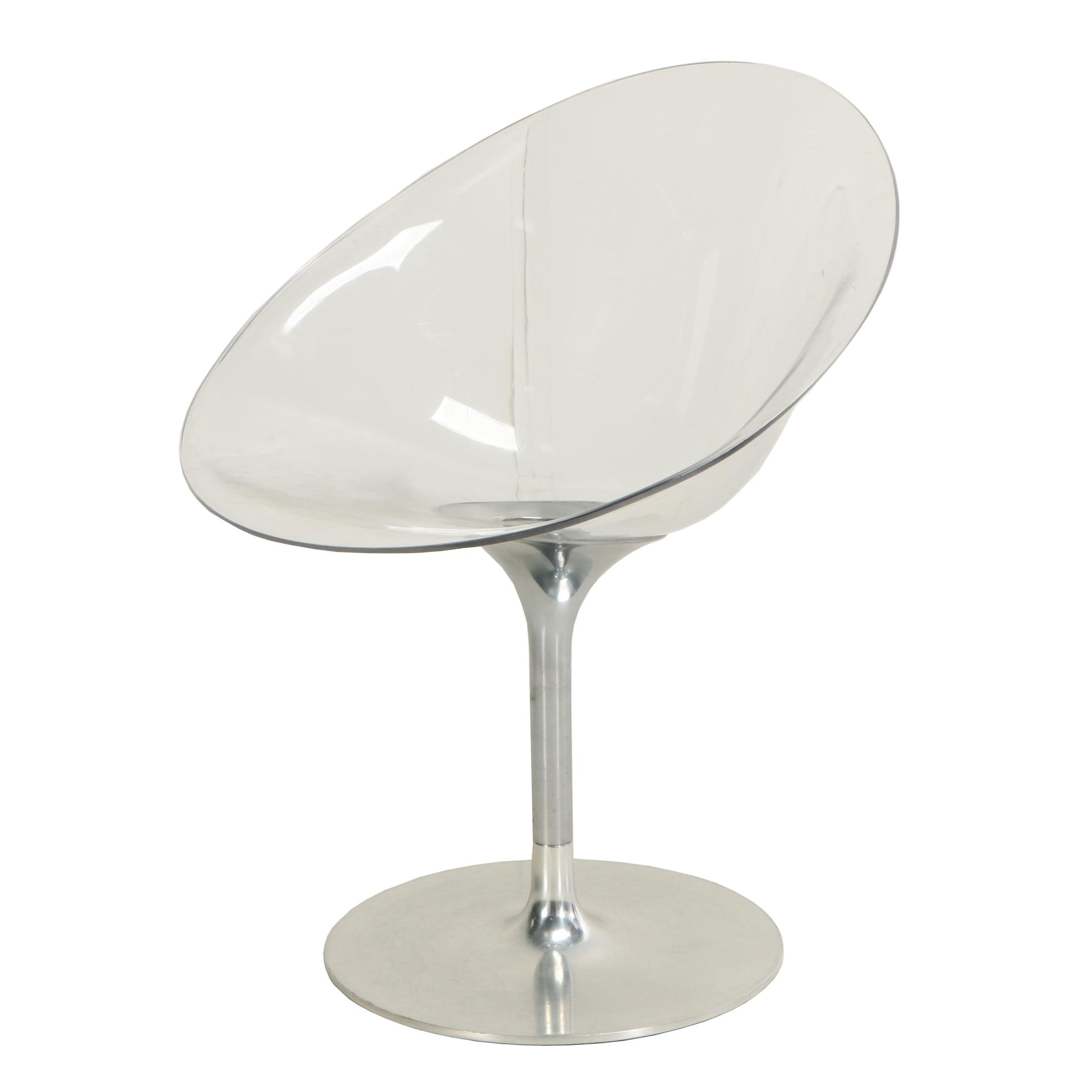 "Philippe Starck for Kartell, ""Eros"" Aluminum and Acrylic Swivel Chair"