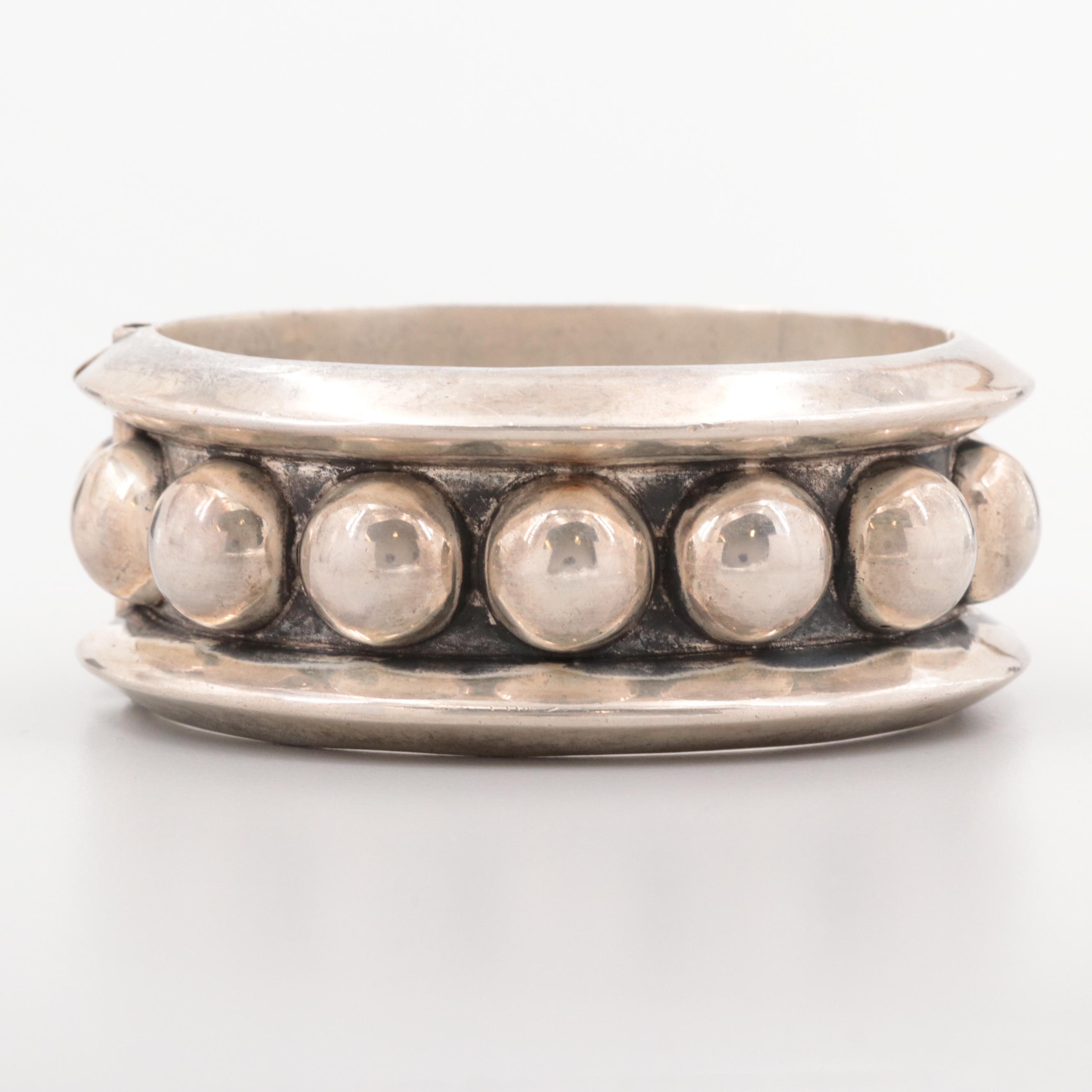 Mexican Vintage Sterling Silver Bangle Bracelet