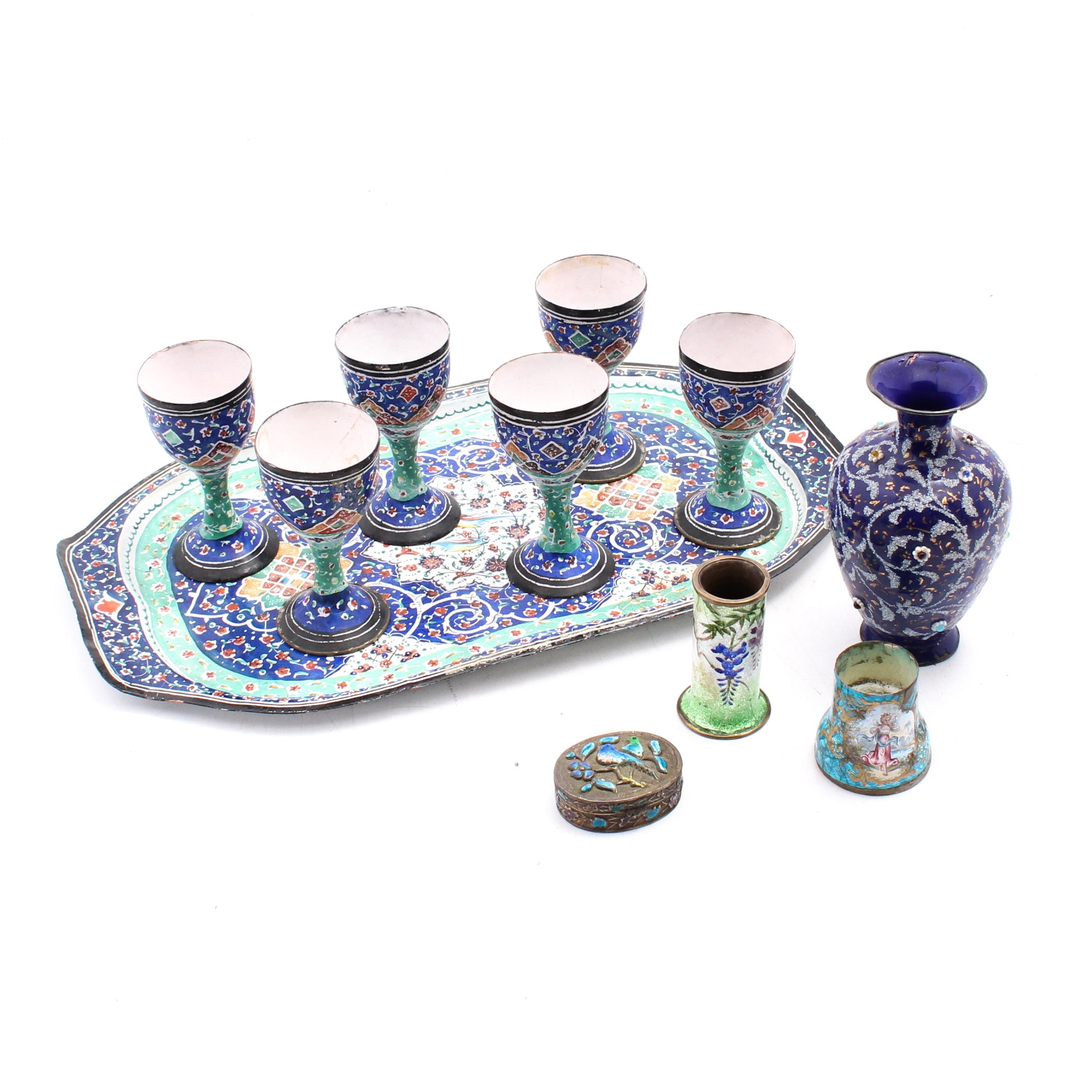Middle Eastern Enamelled Metalware