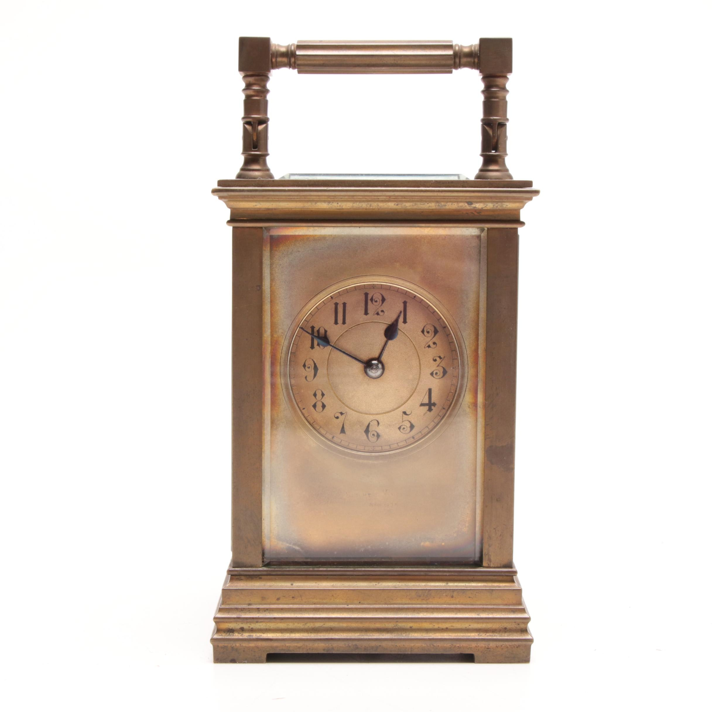 Brass Carriage Clock, Early 20th Century