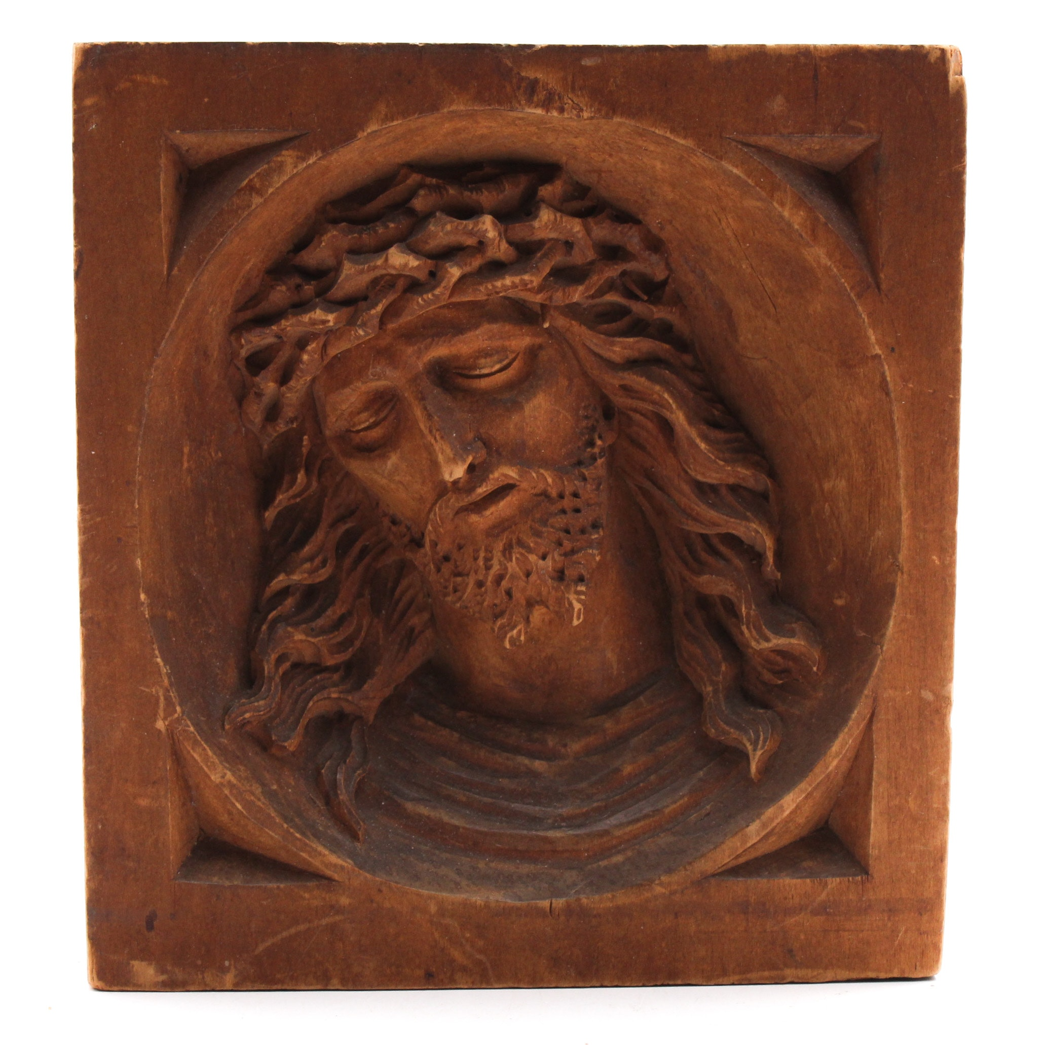 Hand Carved Jesus Christ Wall Hanging