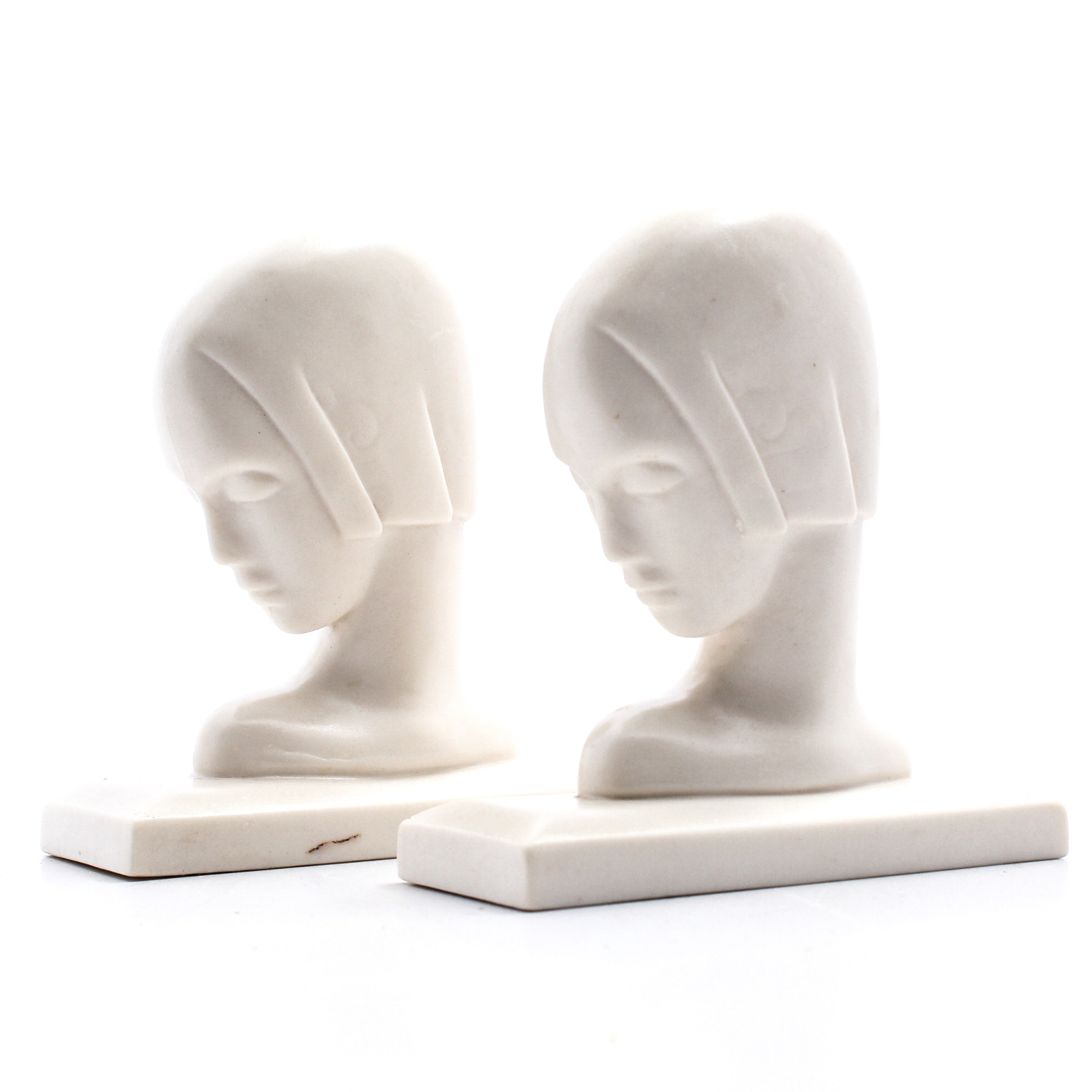 Lenox Art Deco Style Bust Bookends