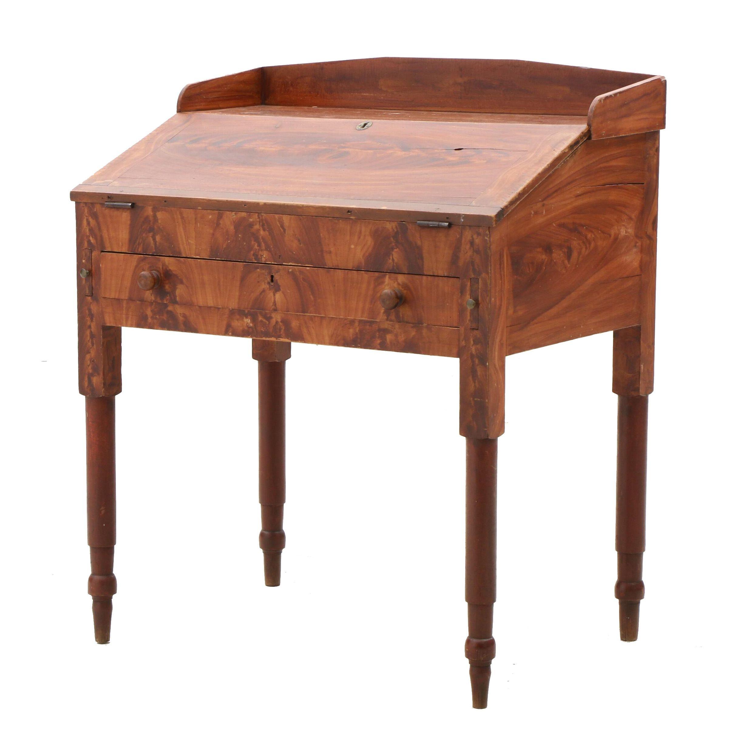 Antique Vinegar Grained Poplar Desk Ca. 1830's