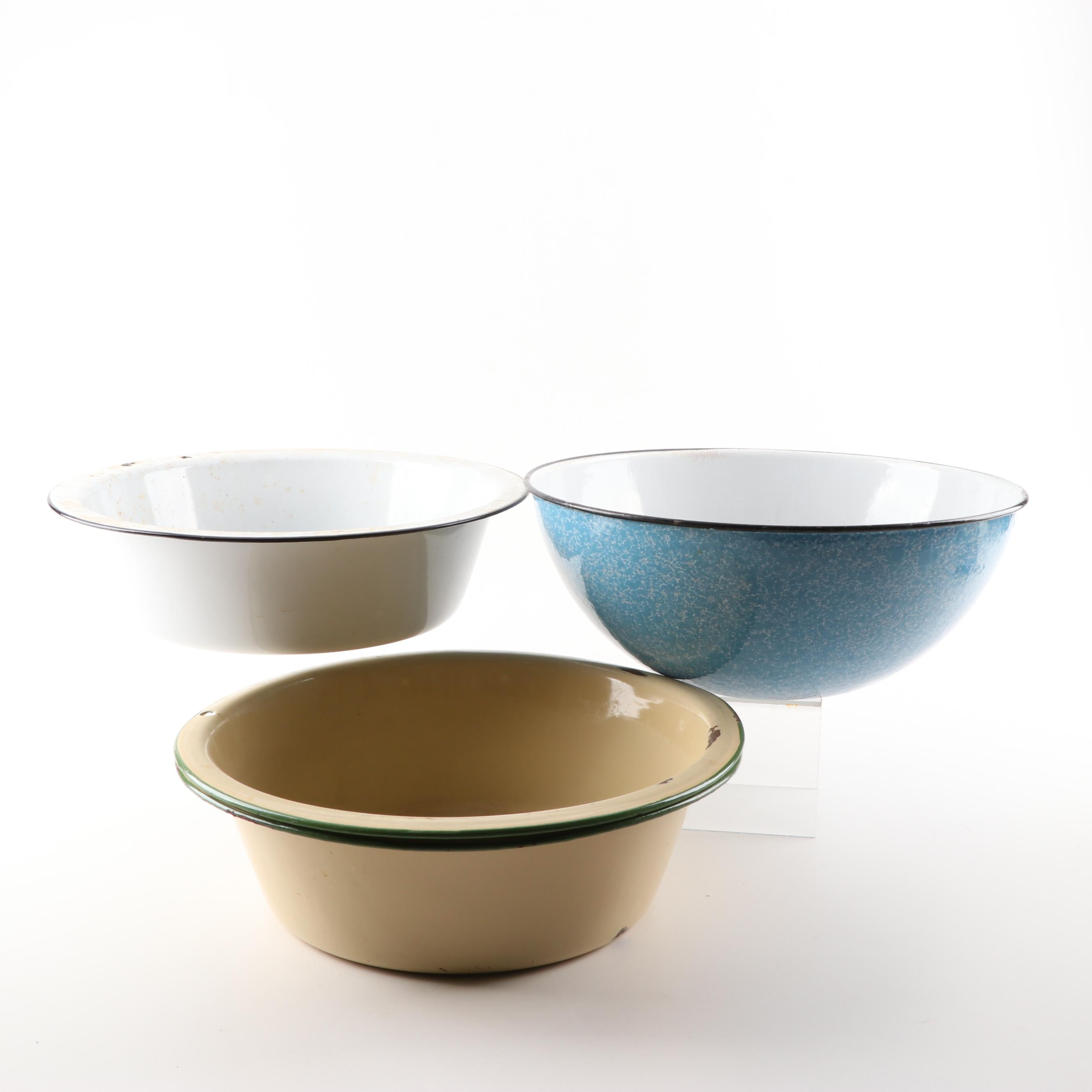 Vintage Enameled Basins