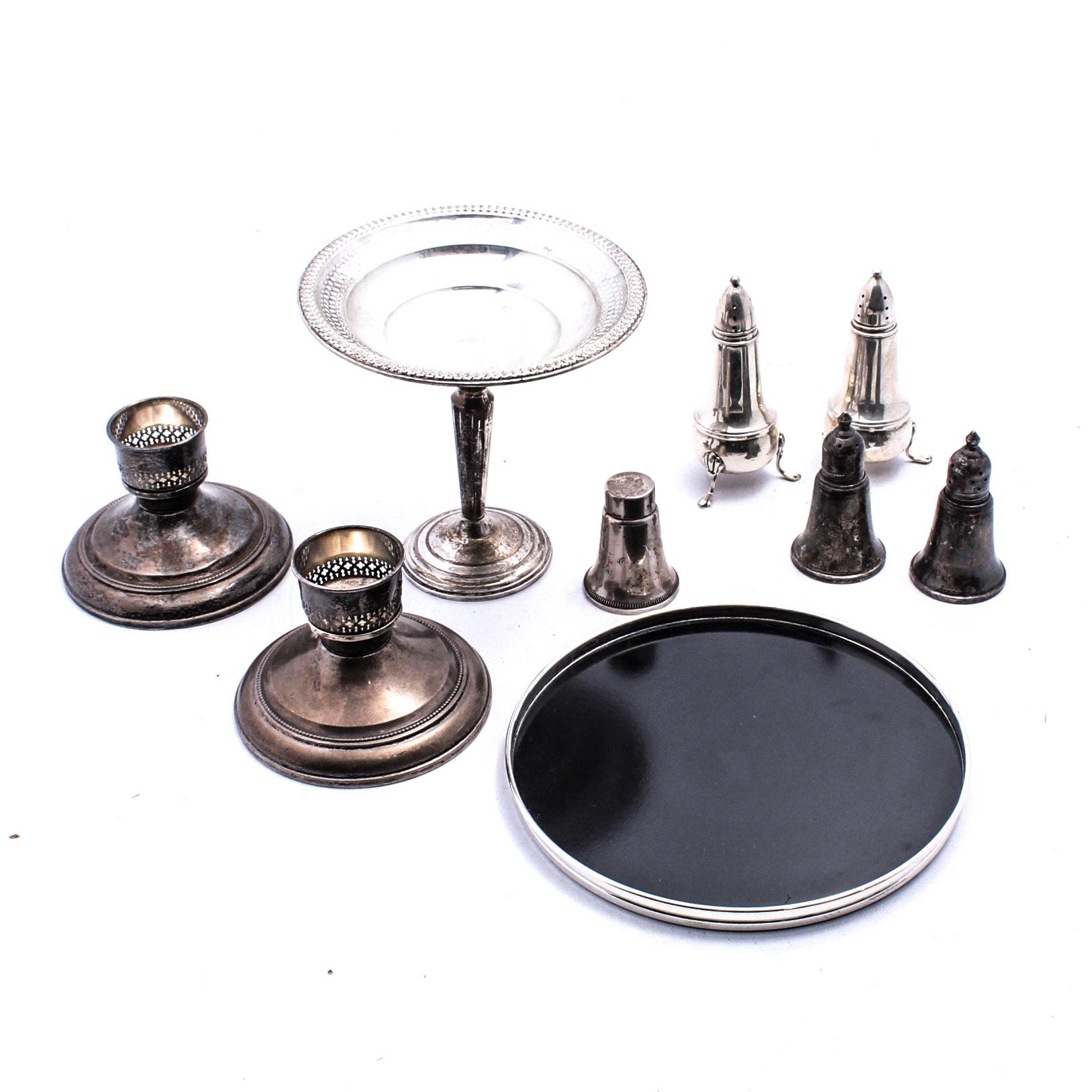 Weighted Sterling Silver Serveware Featuring Gorham, Wallace, Crown, Duchin