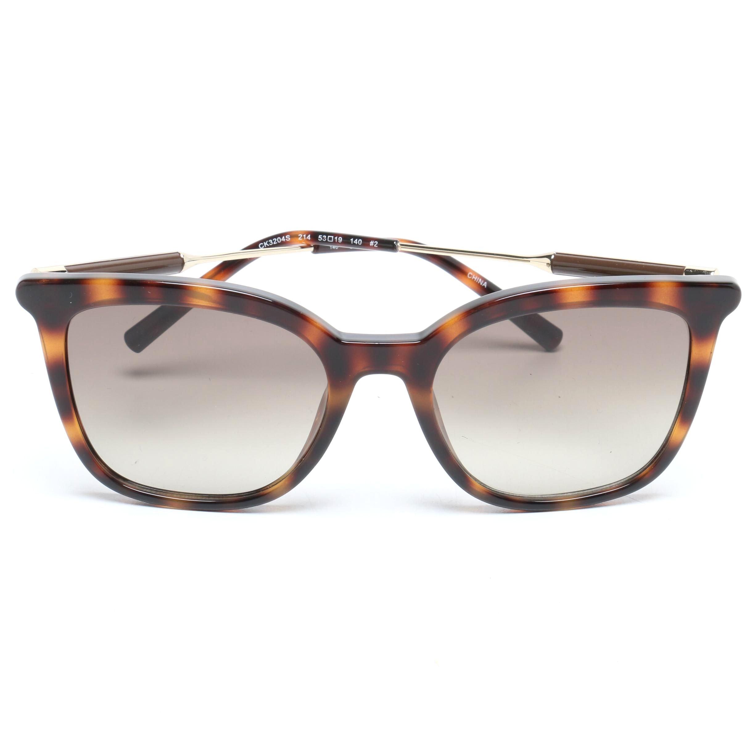 Calvin Klein Tortoiseshell Style Square Sunglasses