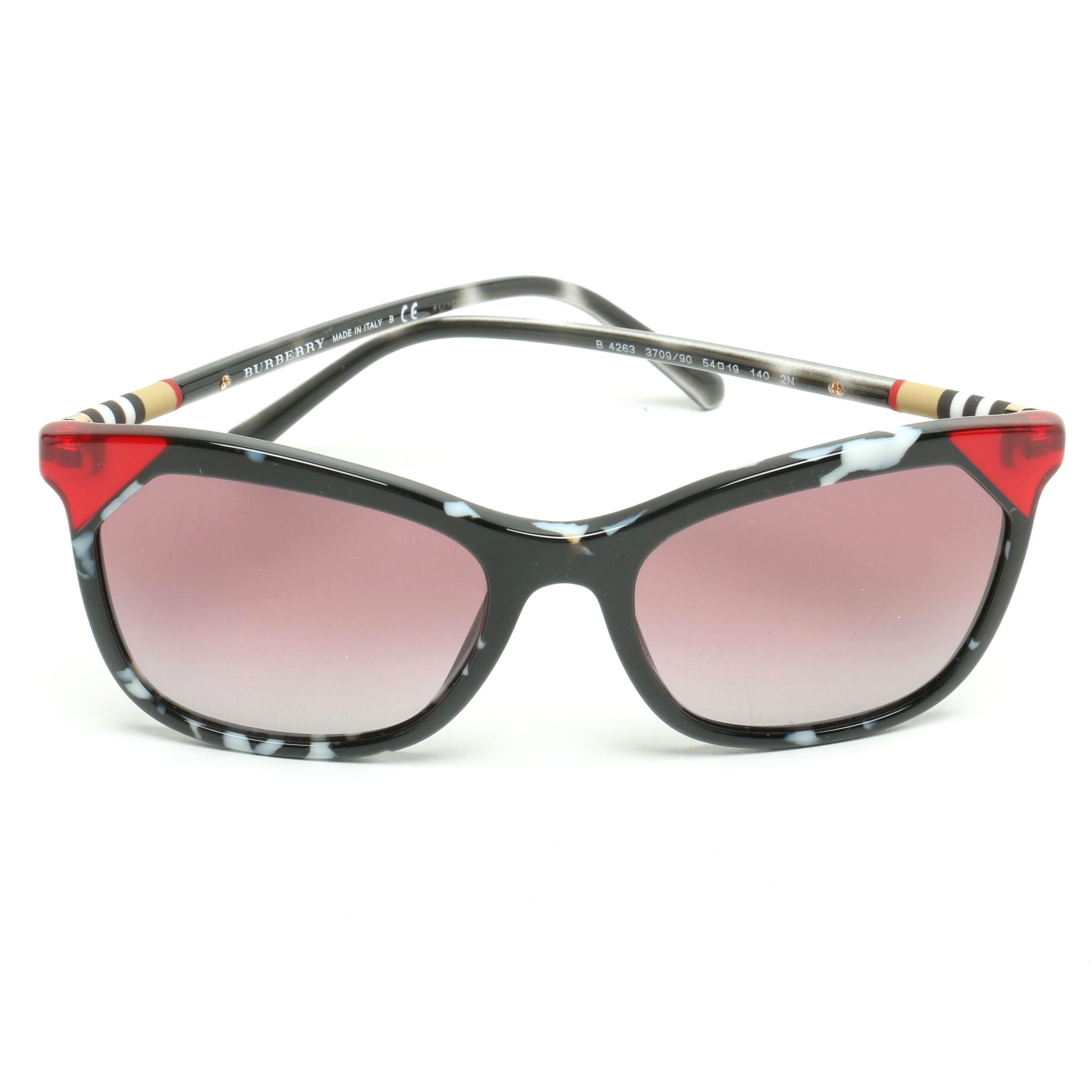 Burberry Multicolored Butterfly Sunglasses with Case and Box